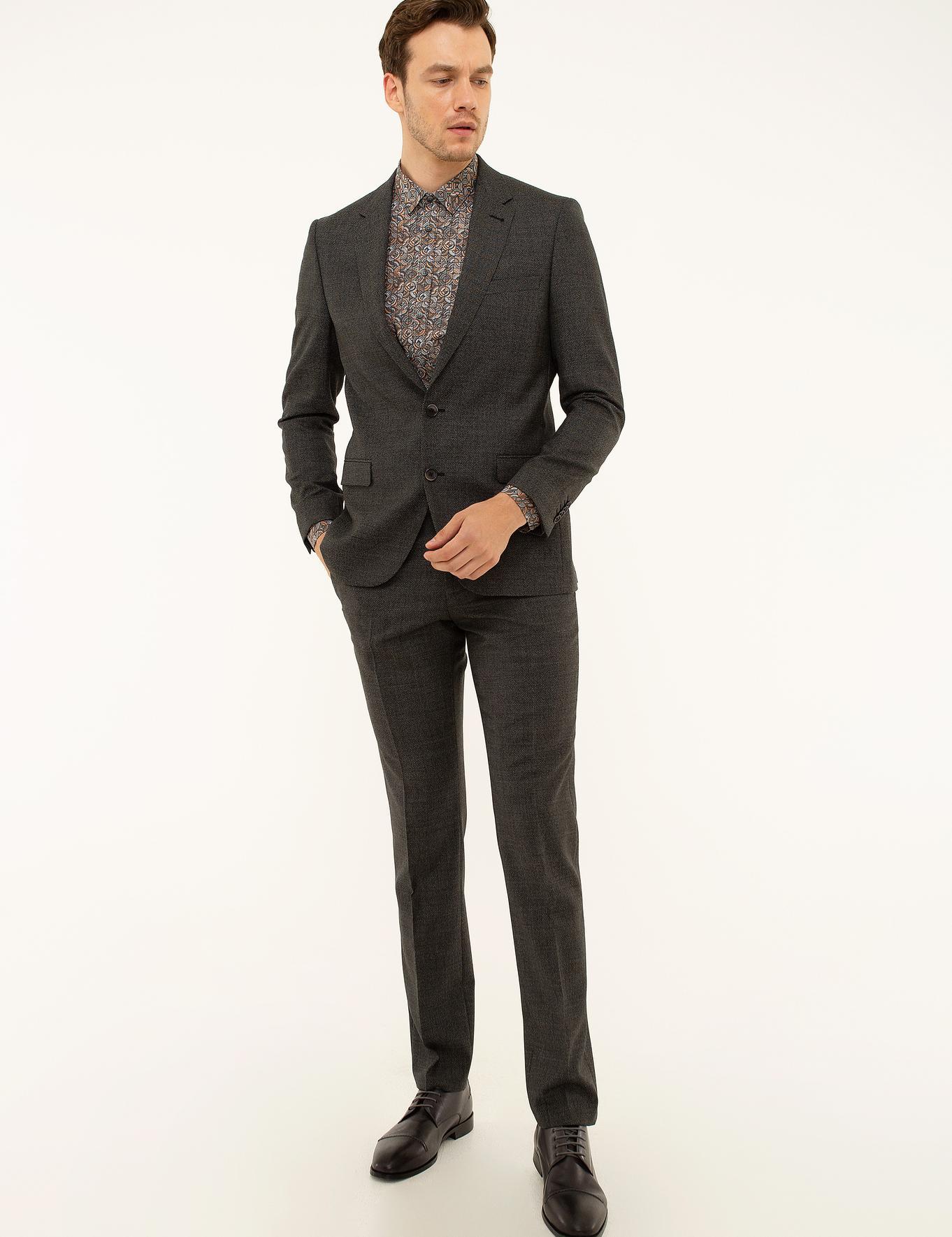 Siyah Slim Fit Takım Elbise - 50213895005