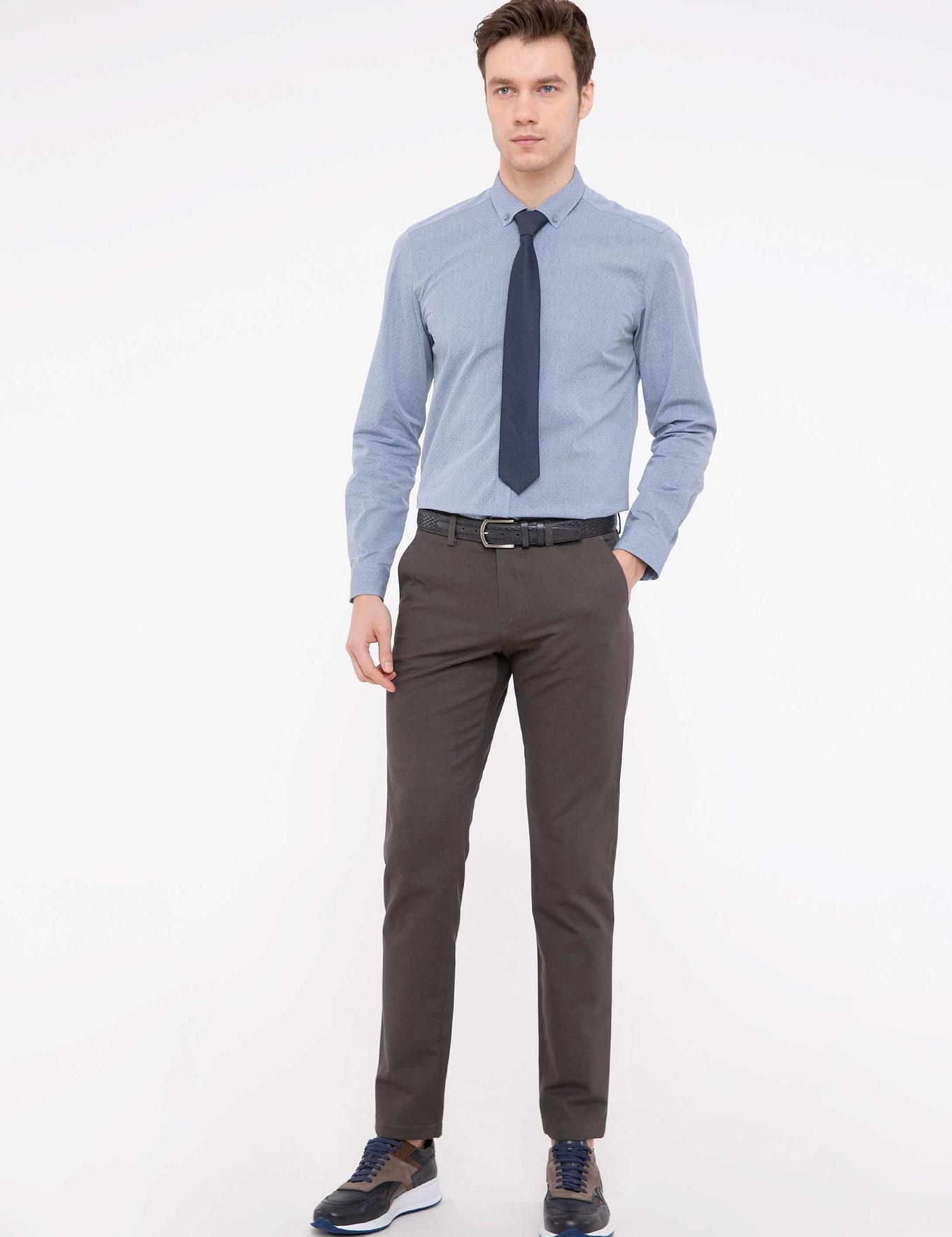 Açık Gri Slim Fit Chino - 50213511008