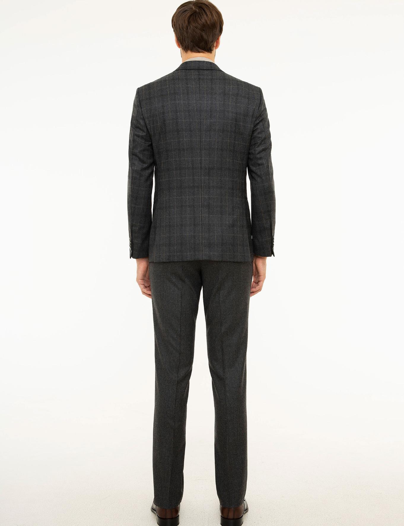 Antrasit Slim Fit Takım Elbise - 50213901014