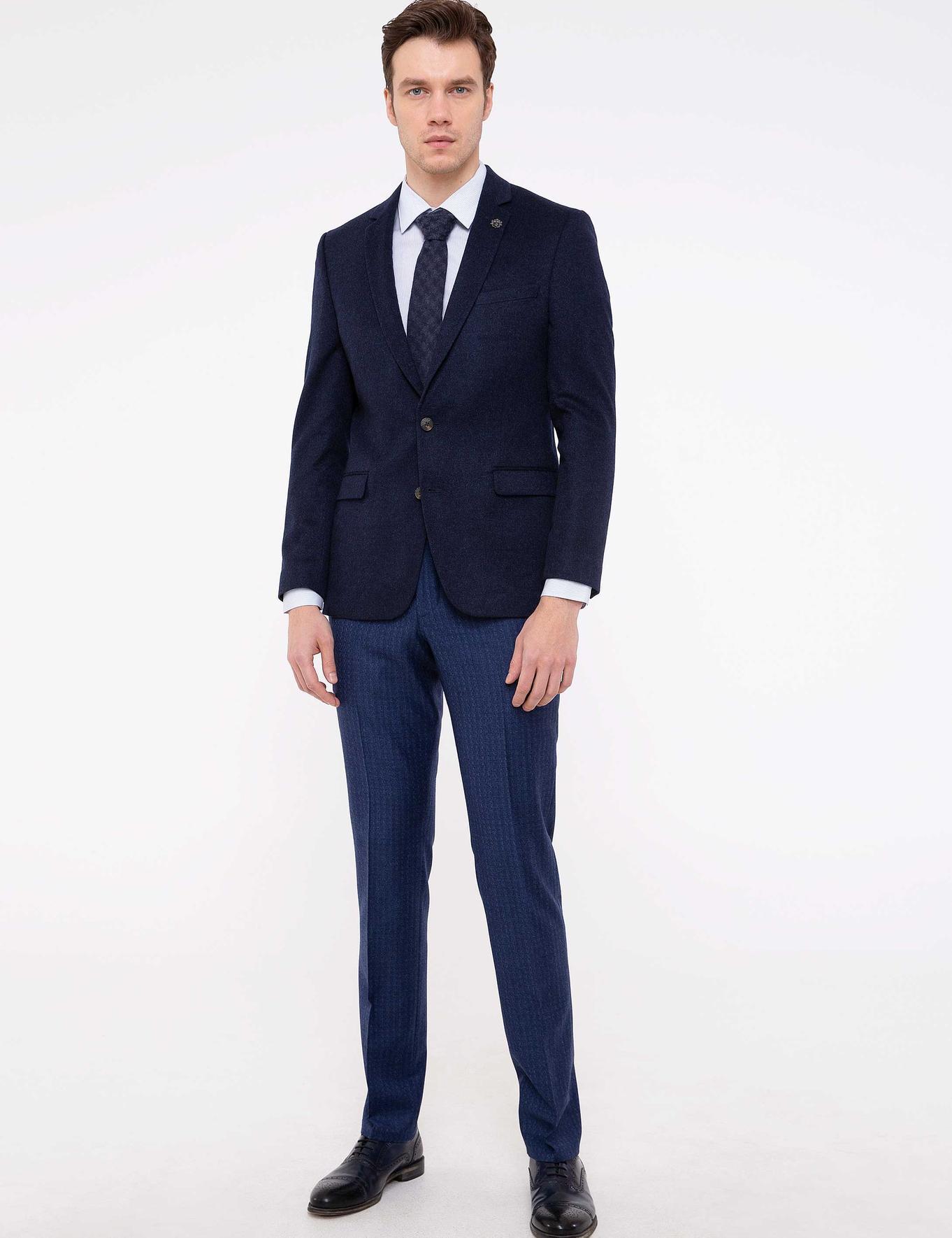 Lacivert Slim Fit Ceket - 50192417152