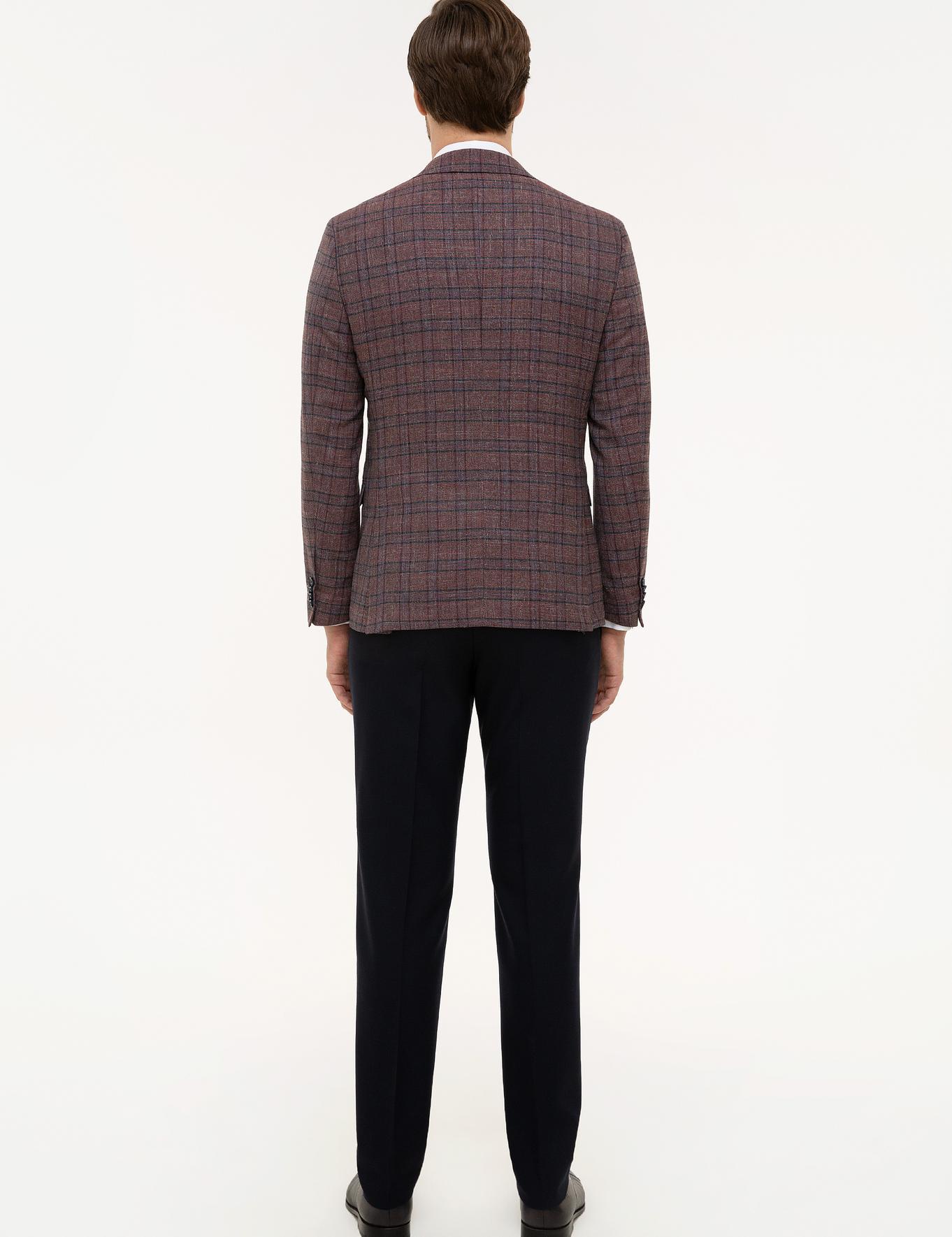 Bordo Slim Fit Takım Elbise - 50223910009