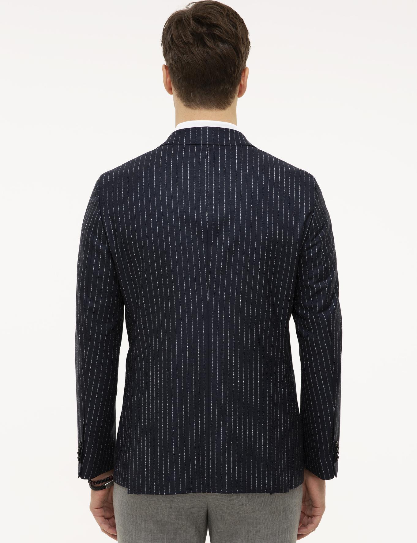 Lacivert Slim Fit Ceket - 50223286043