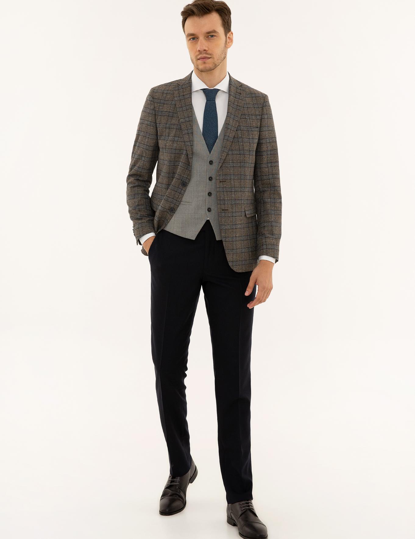 Kahverengi Slim Fit Takım Elbise - 50223972005