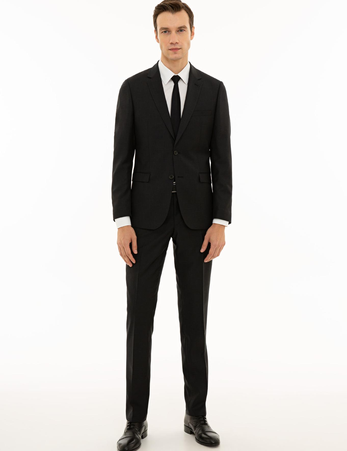 Antrasit Slim Fit Takım Elbise - 50231765008