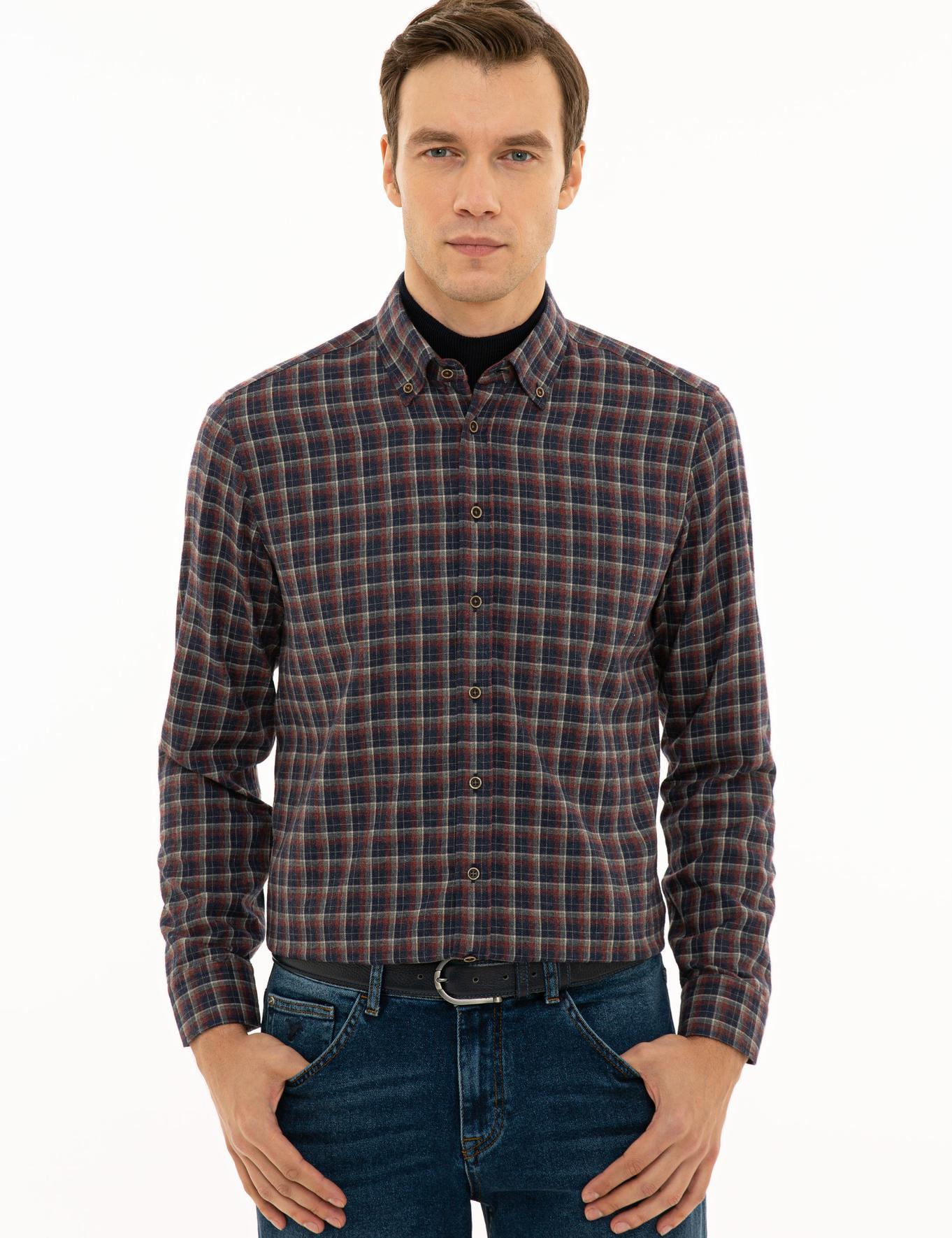 Bordo Slim Fit Gömlek - 50227344006