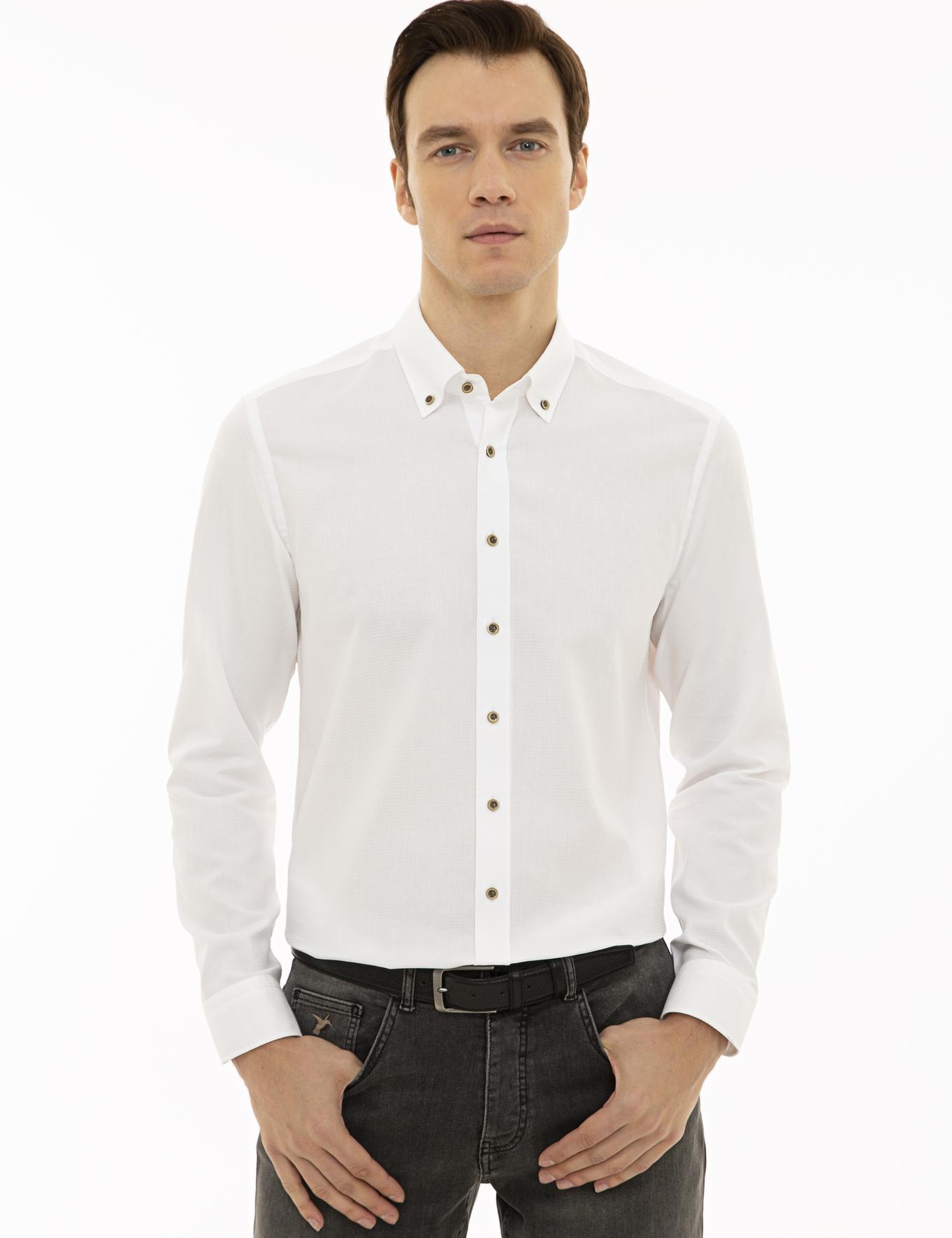 Beyaz Slim Fit Gömlek - 50227926068