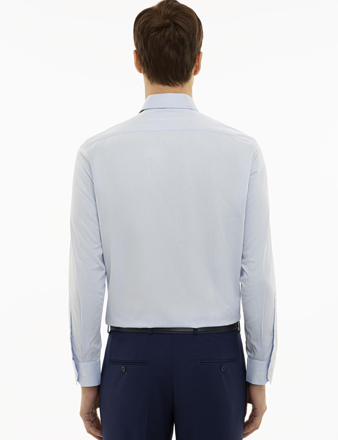 Açık Mavi Slim Fit Basic Gömlek - 50231175023