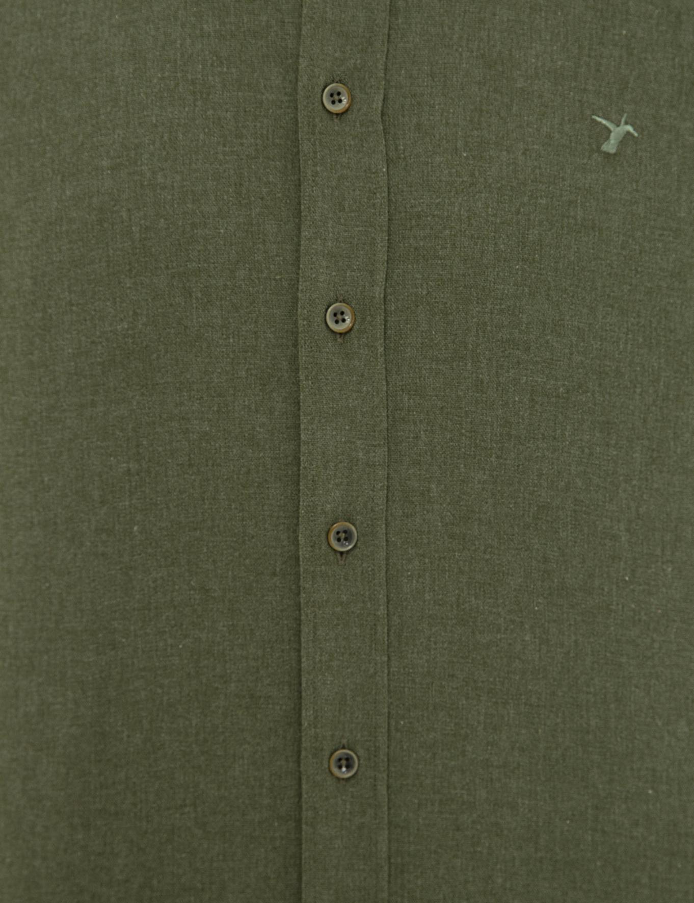 Koyu Yeşil Slim Fit Gömlek - 50227042193