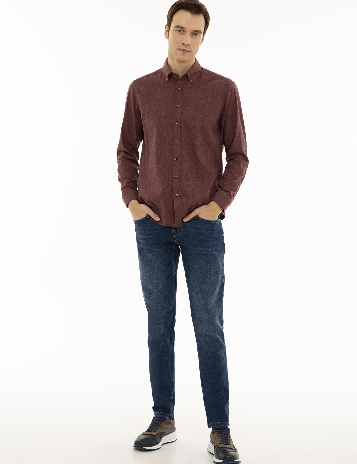 Bordo Slim Fit Gömlek - 50227042042