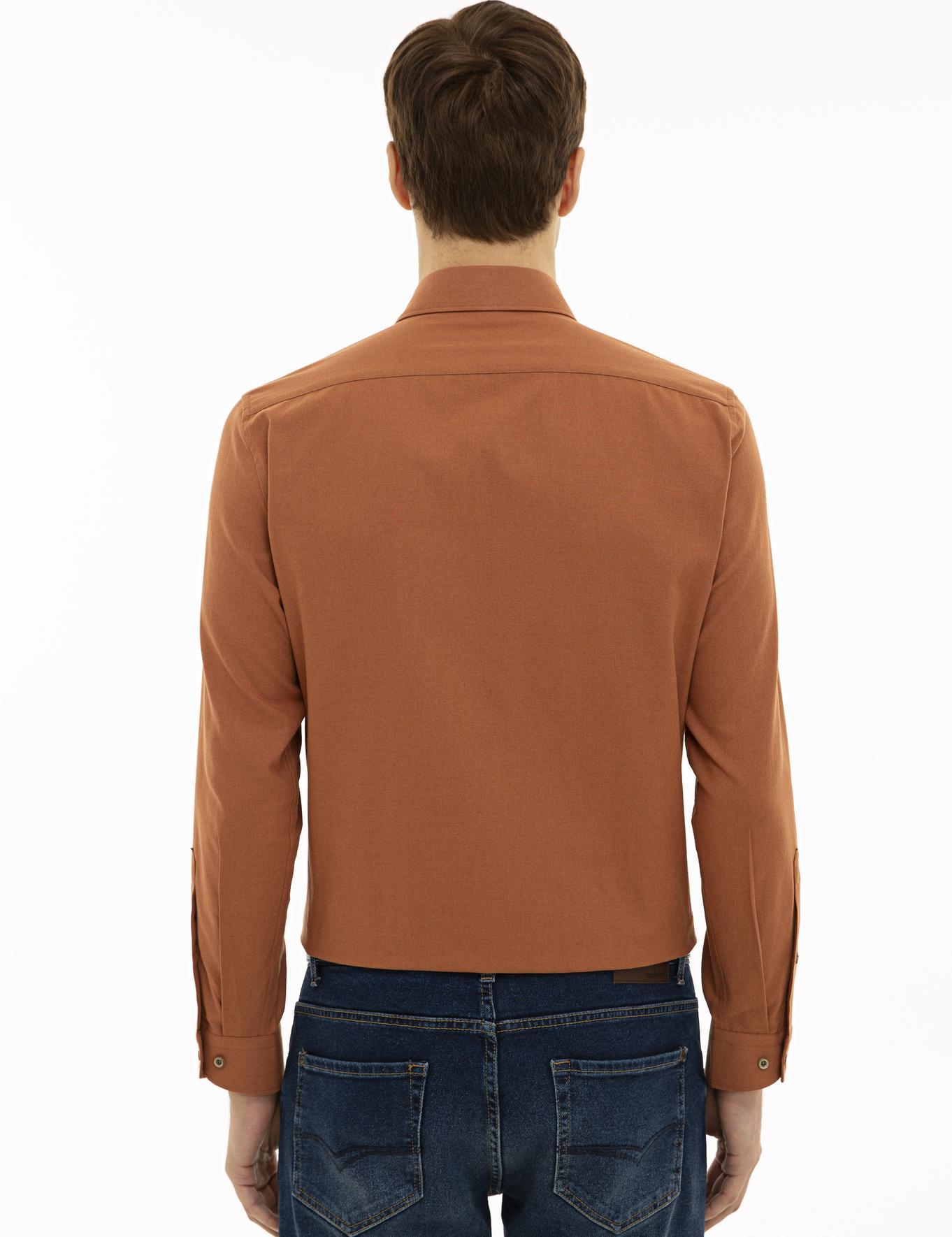 Bej Slim Fit Gömlek - 50227042161