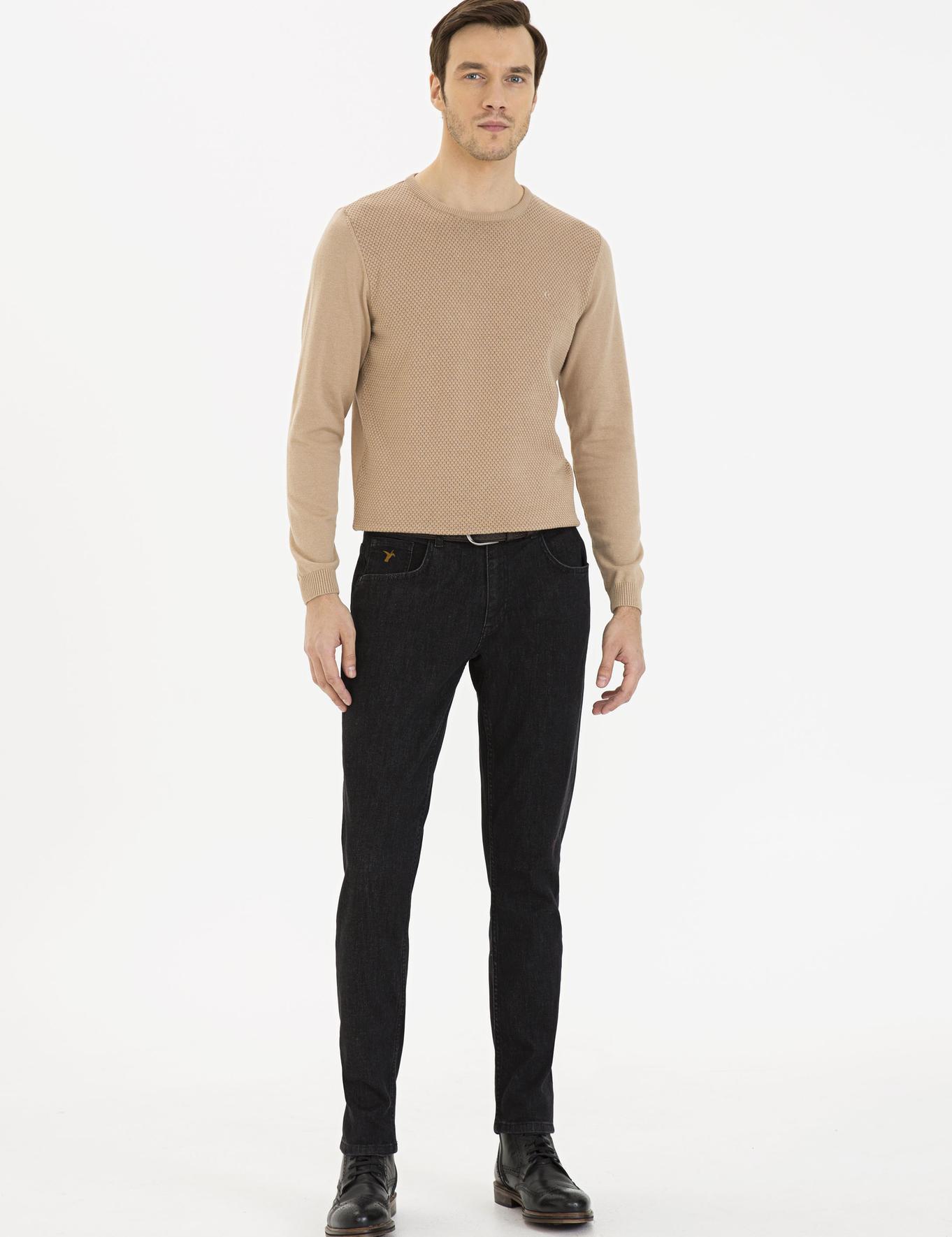 Siyah Slim Fit Denim - 50233809033