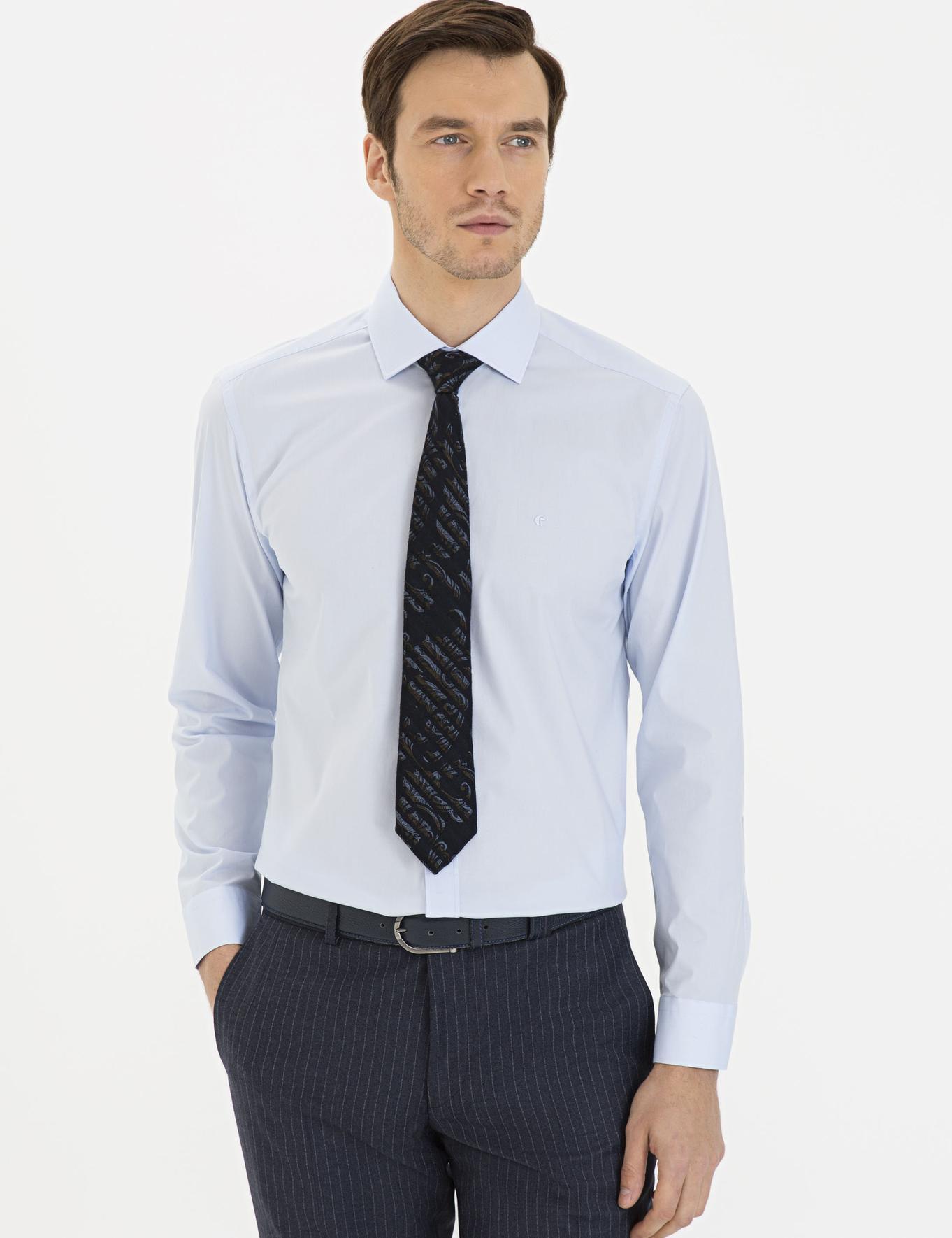 Açık Mavi Slim Fit Gömlek - 50229437027