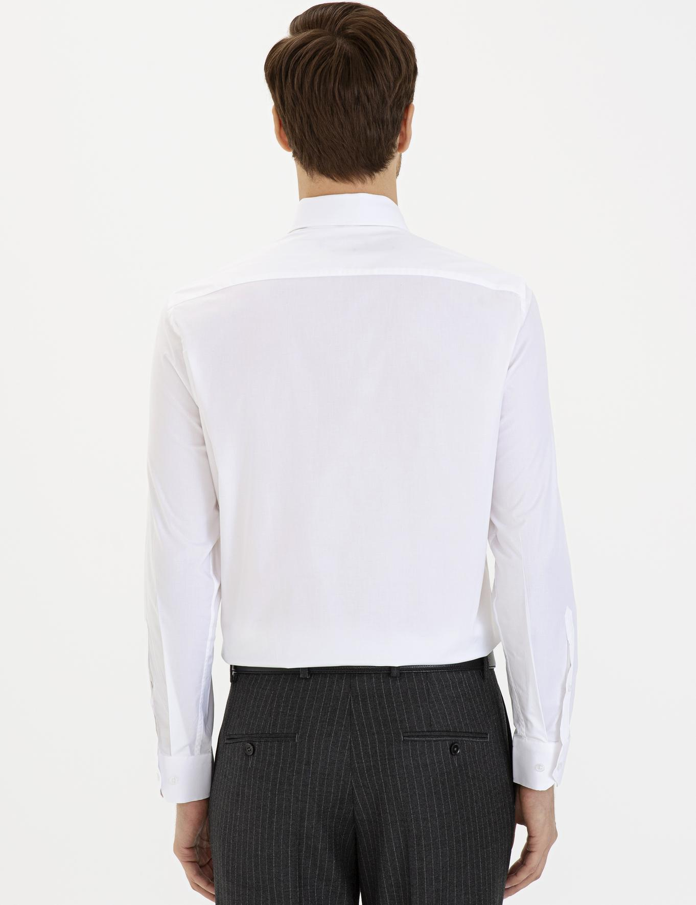 Beyaz Slim Fit Gömlek - 50229437011