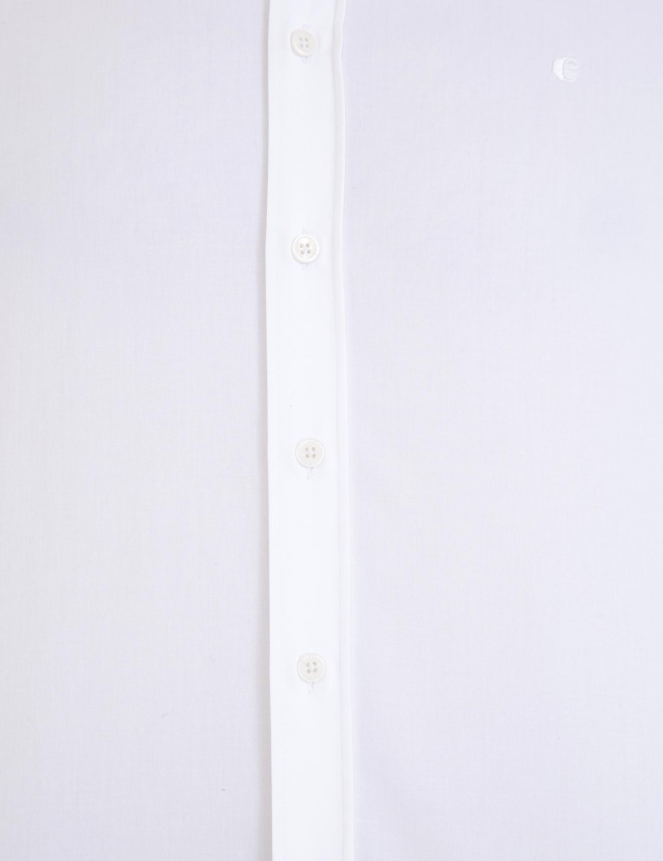 Beyaz Casual Fit Basic Gömlek - 50229438005