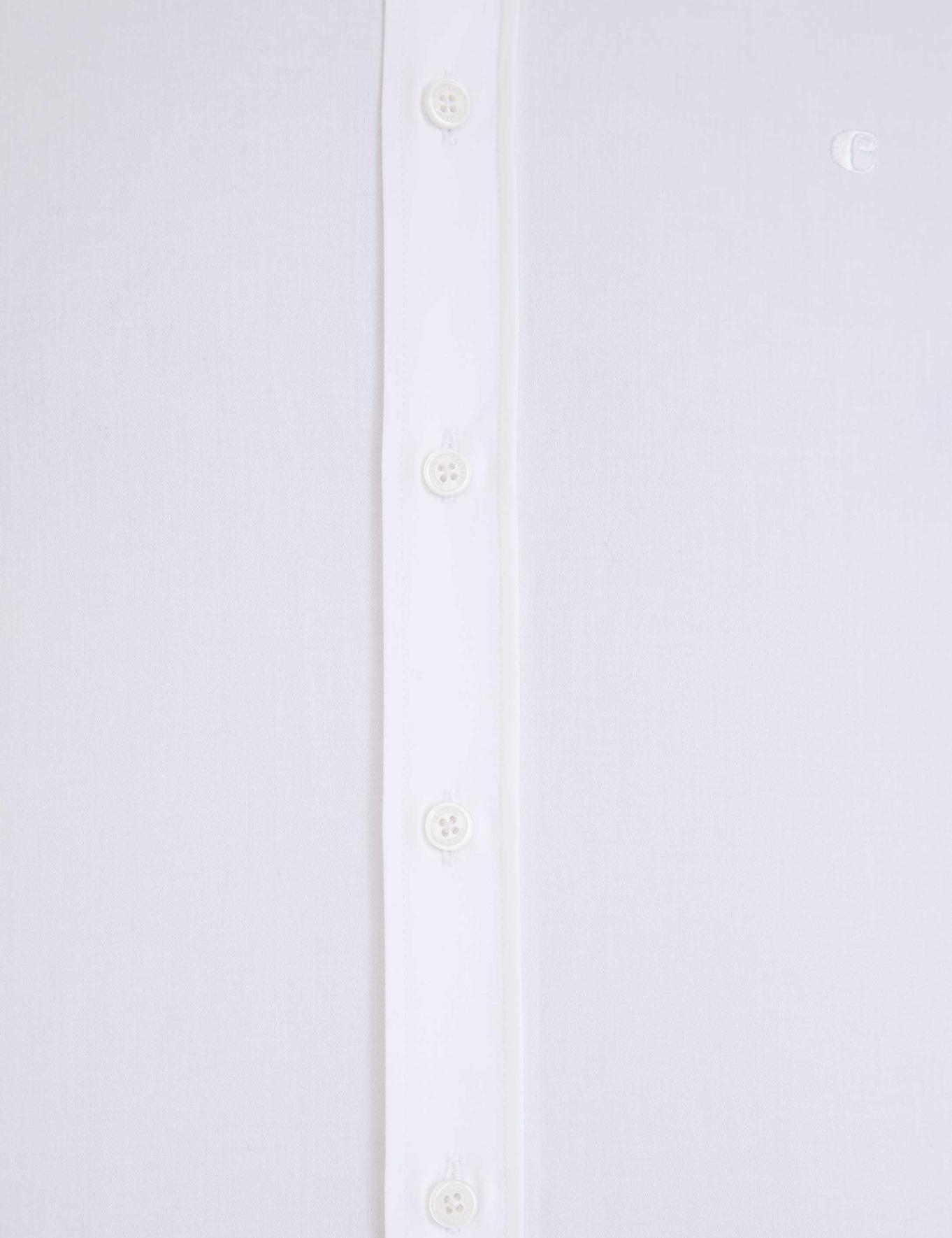 Beyaz Slim Fit Basic Gömlek - 50229436011