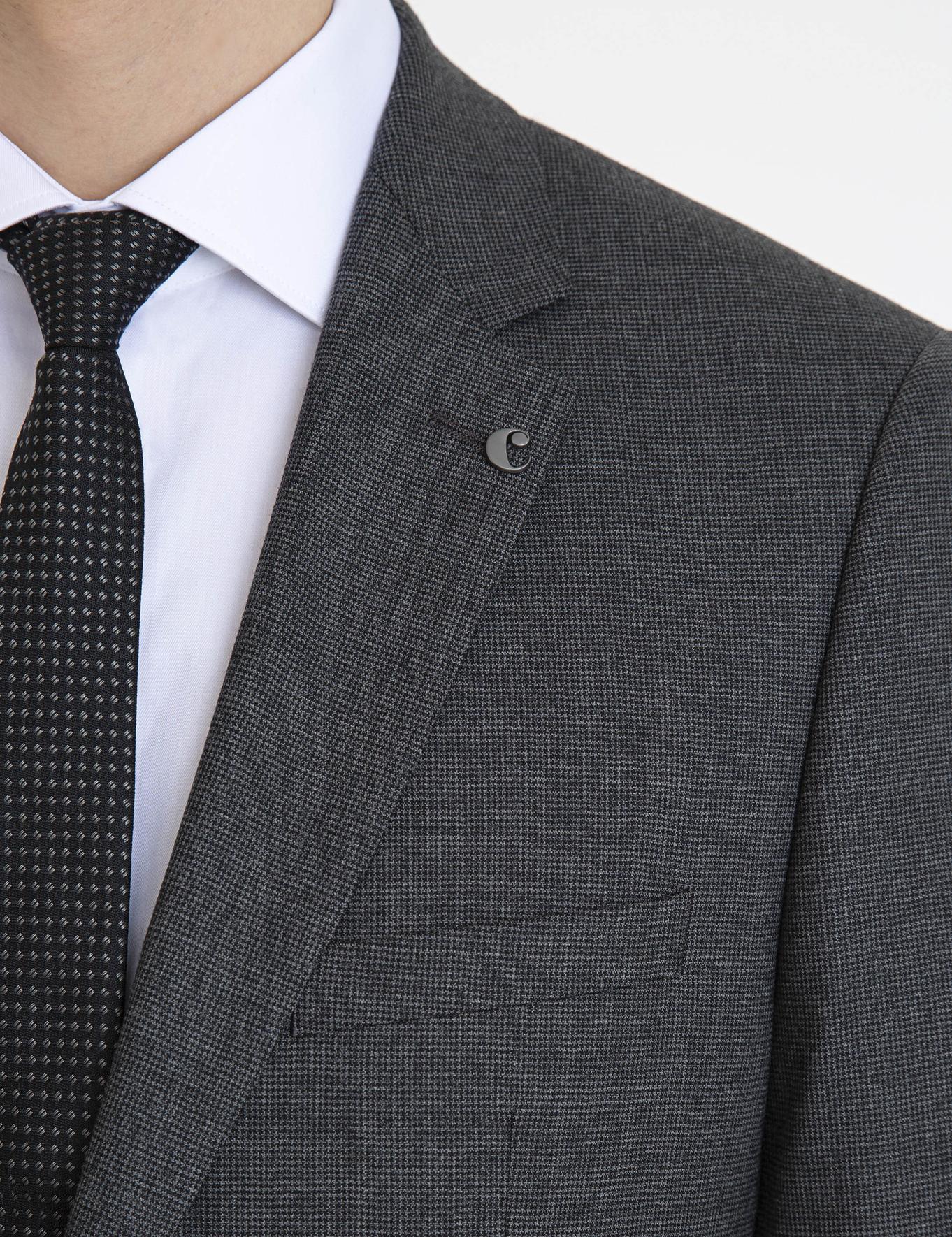 Siyah Slim Fit Takım Elbise - 50227288044