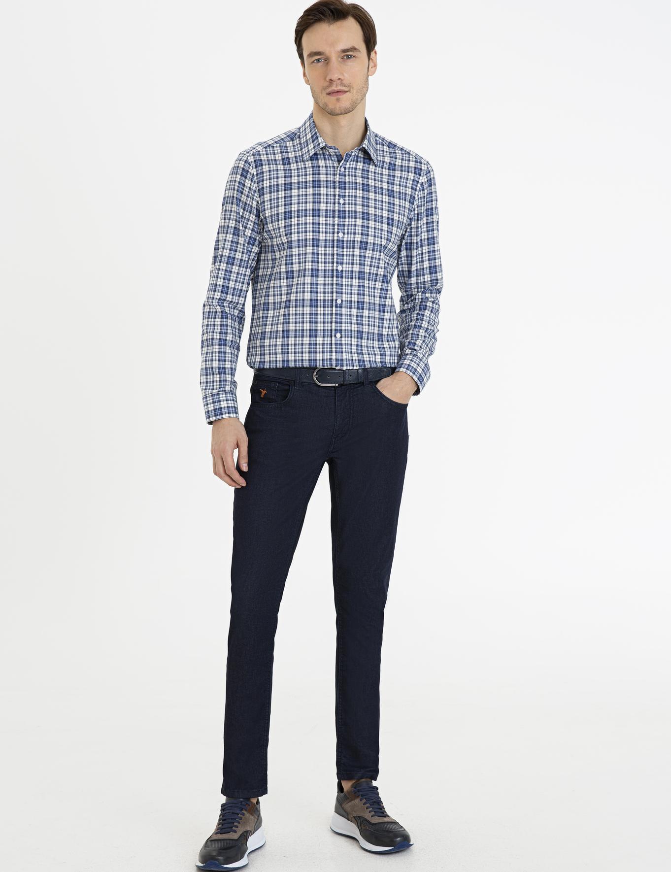 İndigo Slim Fit Gömlek - 50227247006