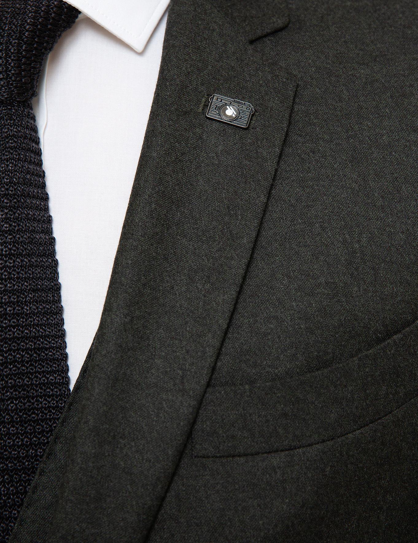 Yeşil Slim Fit Ceket - 50192737302