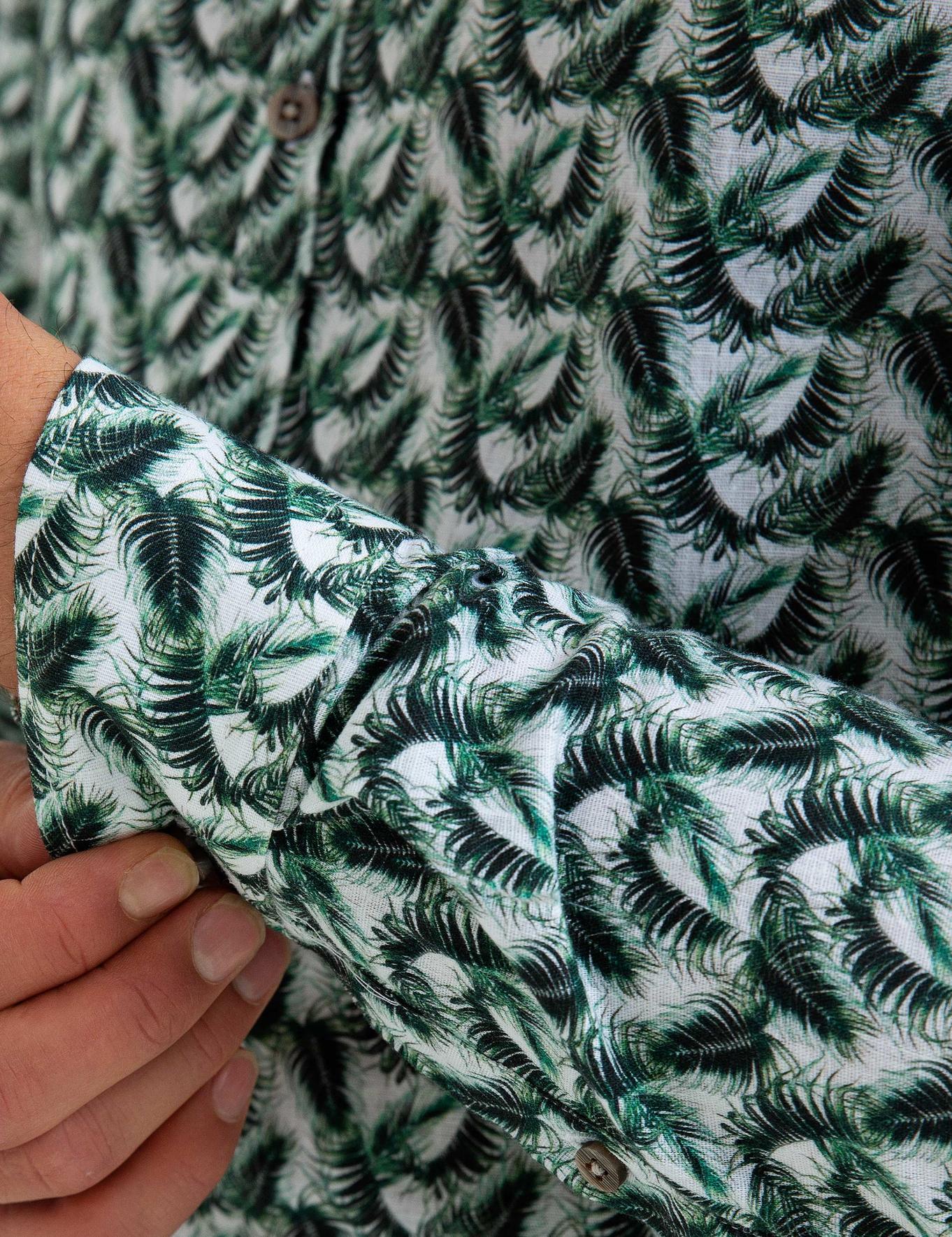 Koyu Yeşil Slim Fit Gömlek - 50185953004