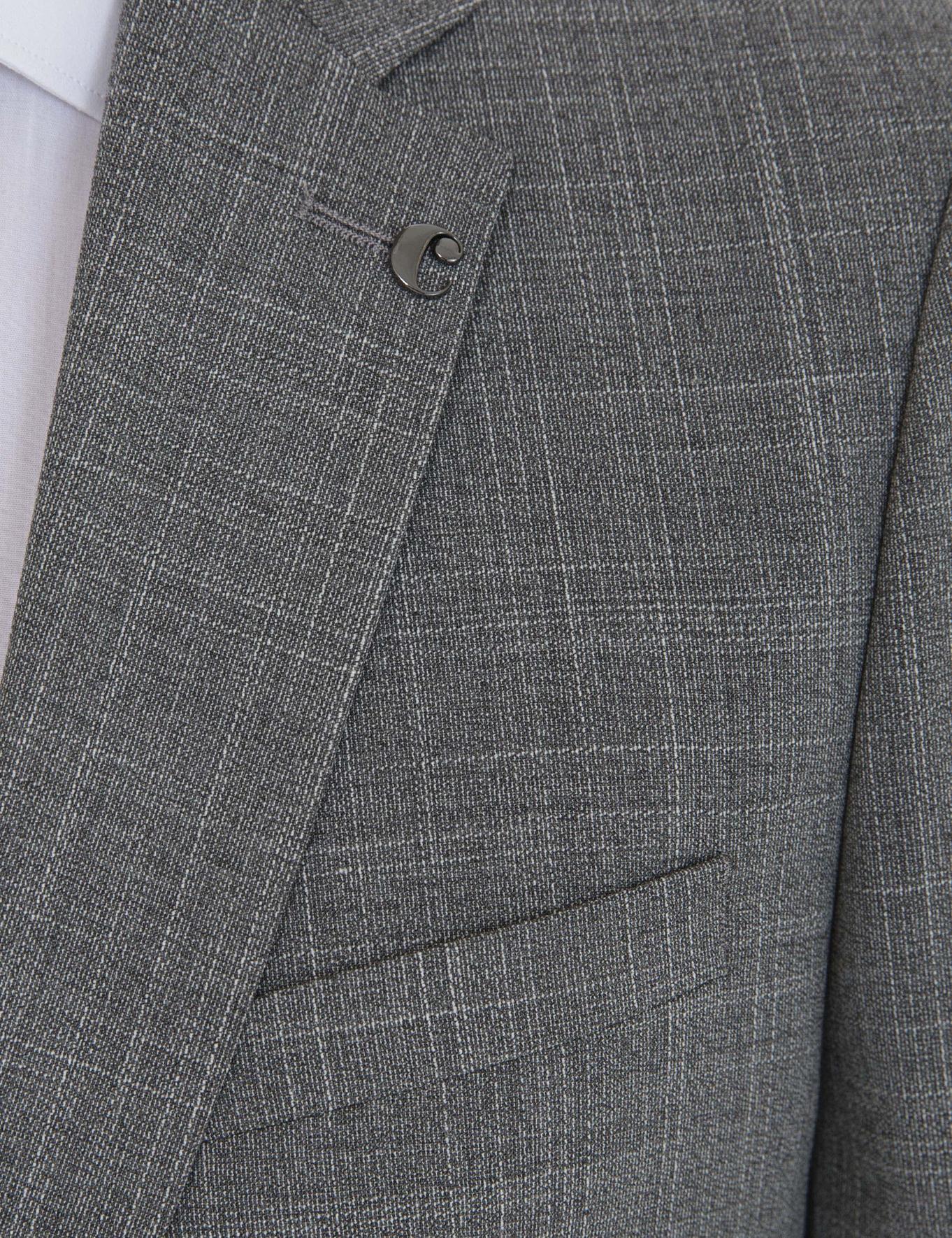 Gri Slim Fit Takım Elbise - 50237299011