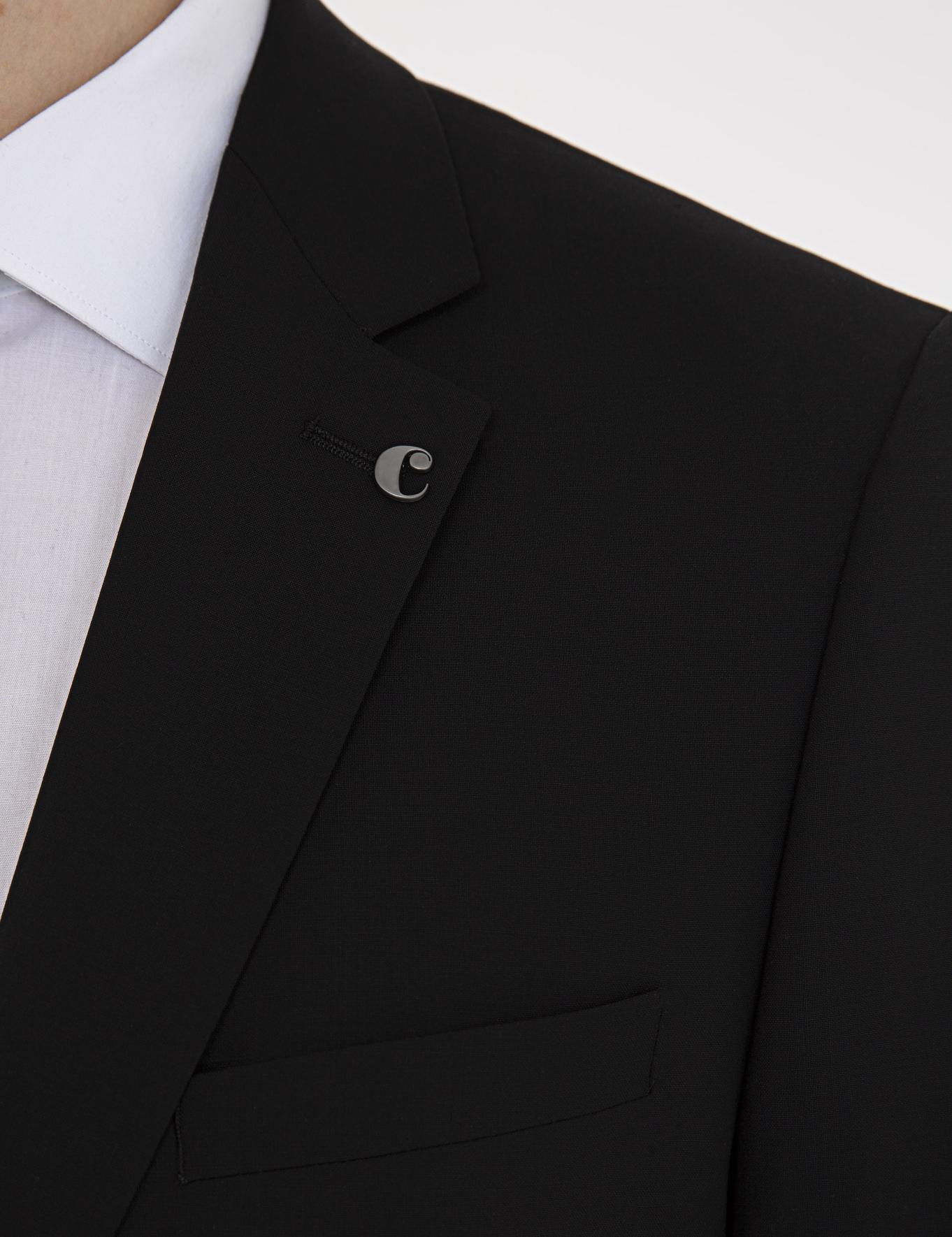 Siyah Slim Fit Ceket - 50235695050