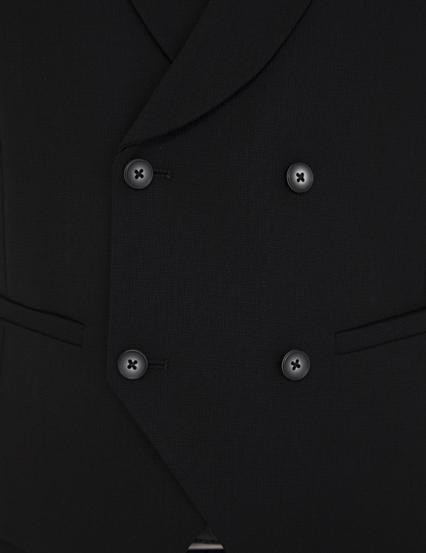 Siyah Slim Fit Yelek - 50235705017
