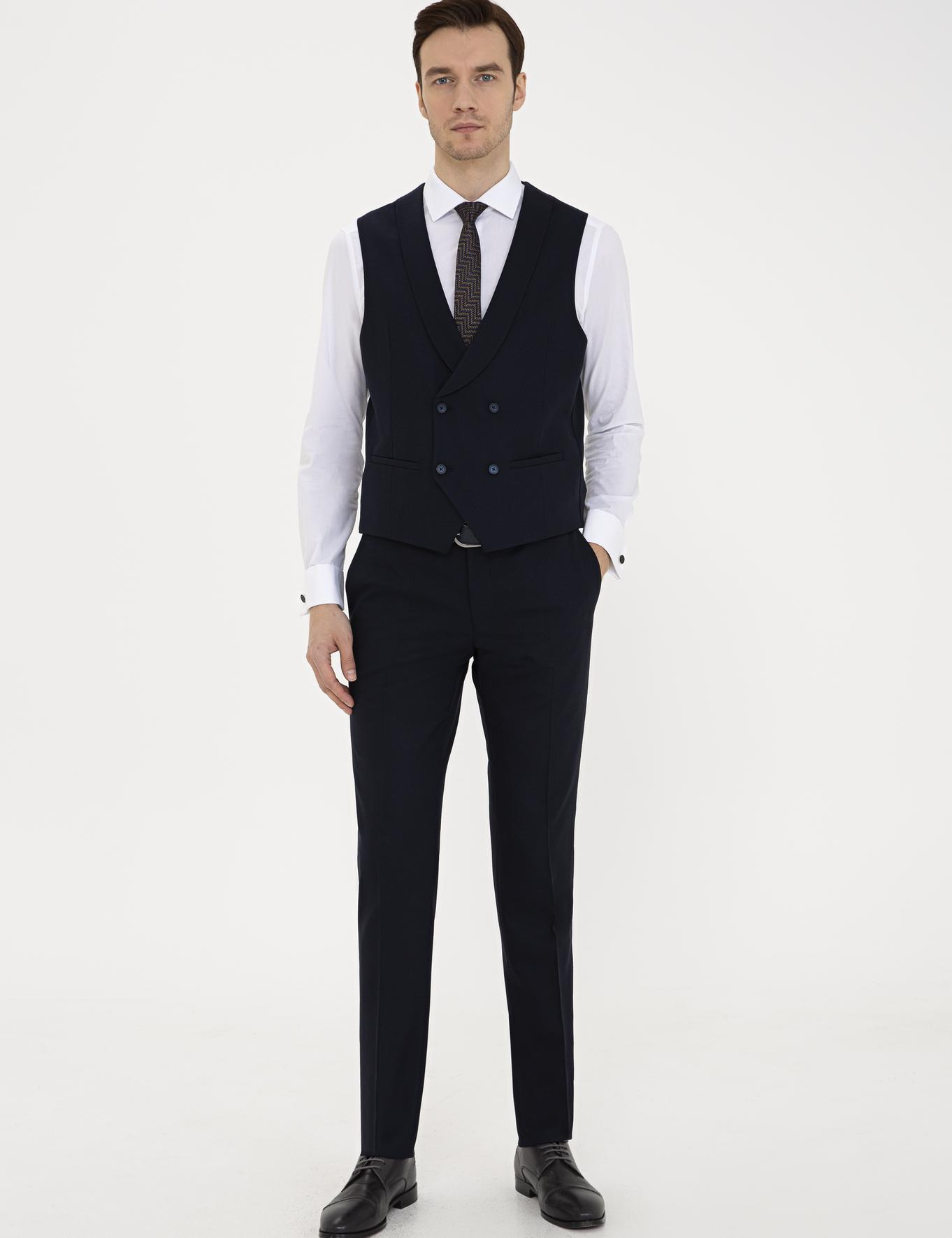 Lacivert Slim Fit Pantolon - 50235732026