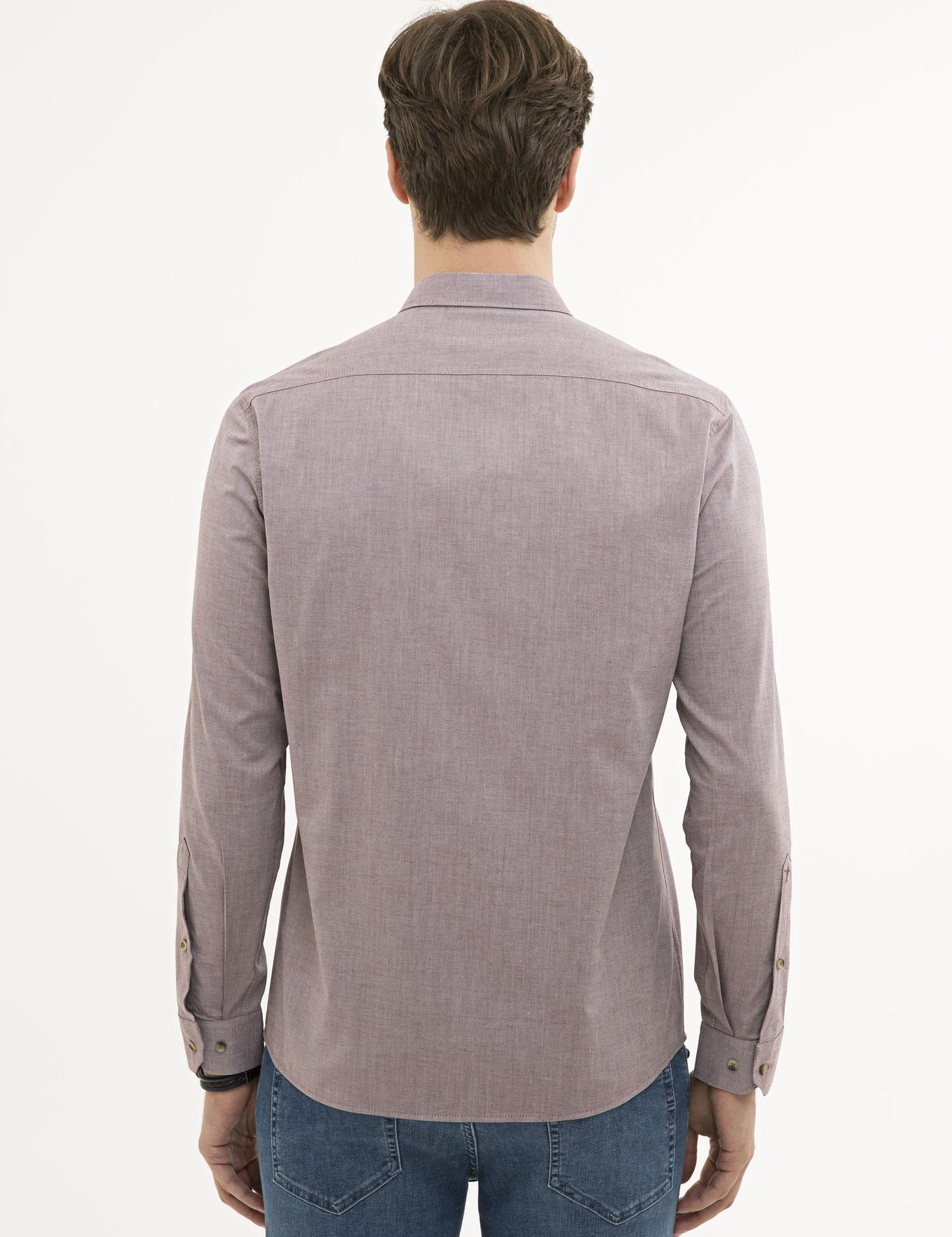 Kırmızı Slim Fit Gömlek - 50221293109