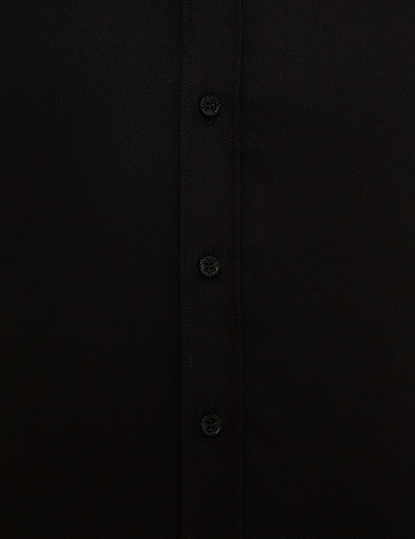 Siyah Slim Fit Basic Gömlek - 50223224084