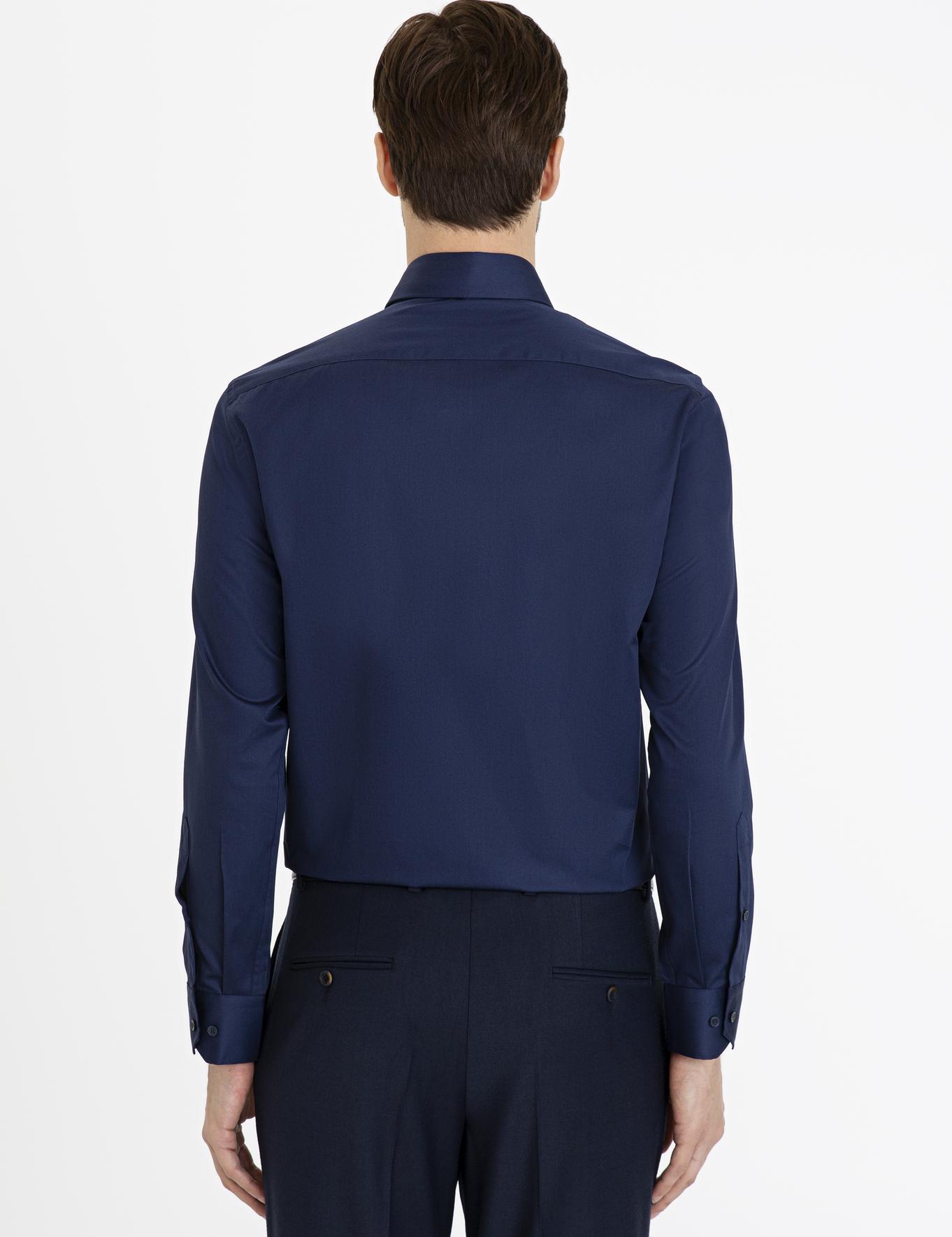 Lacivert Slim Fit Basic Gömlek - 50229004058