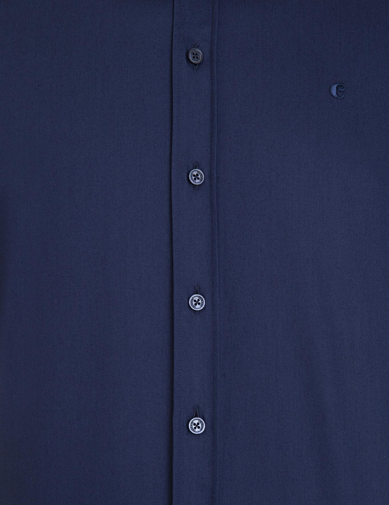 Lacivert Slim Fit Gömlek - 50229436059