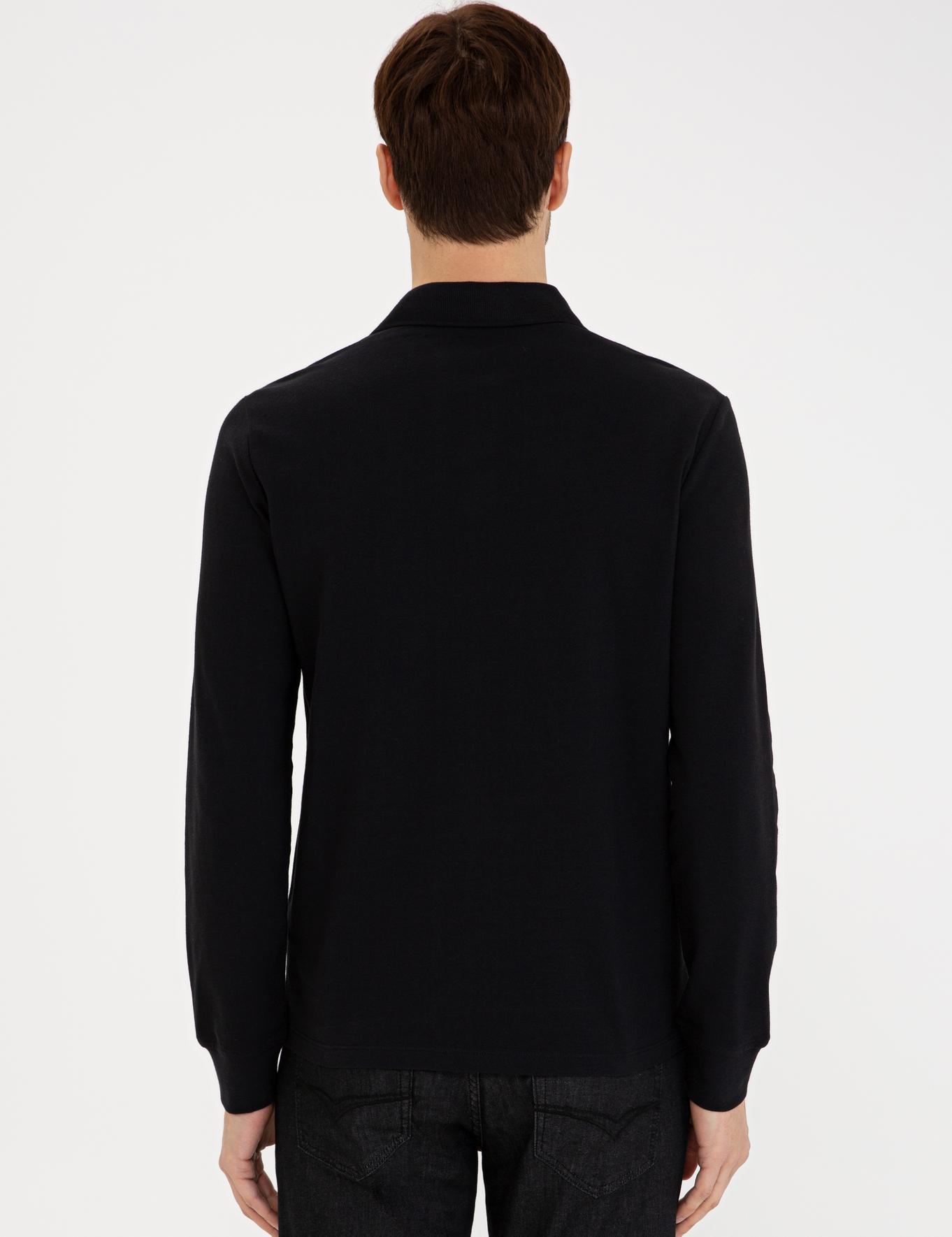 Siyah Slim Fit Sweatshirt - 50240038004