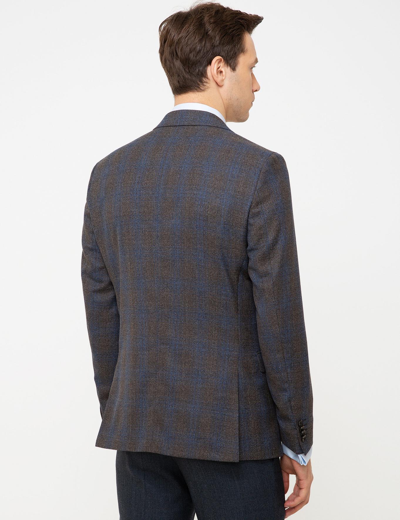 Kahverengi Slim Fit Ceket - 50213199071