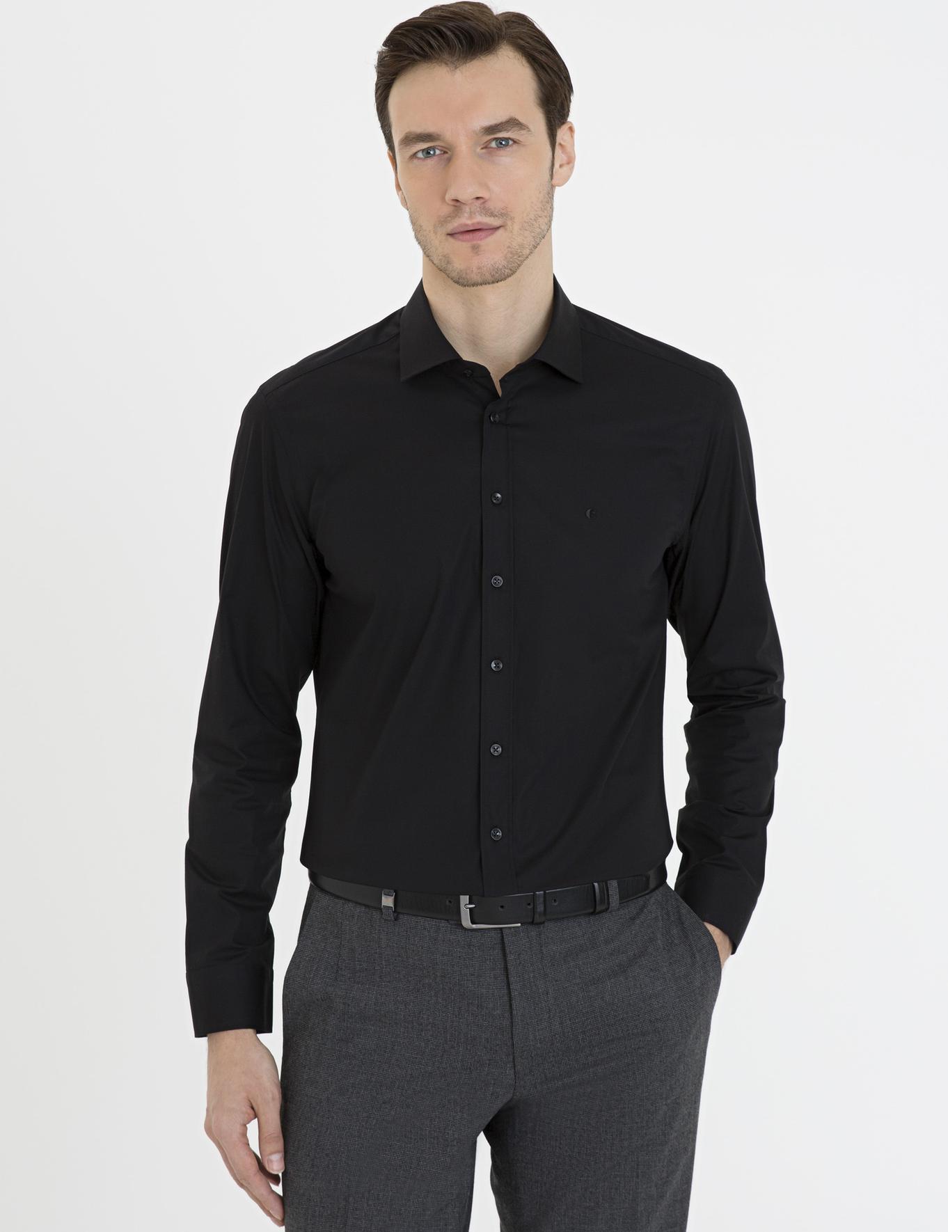 Siyah Slim Fit Gömlek - 50229437078