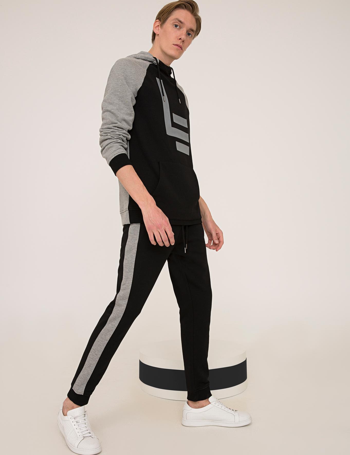 Siyah Örme Pantolon - 50235803008