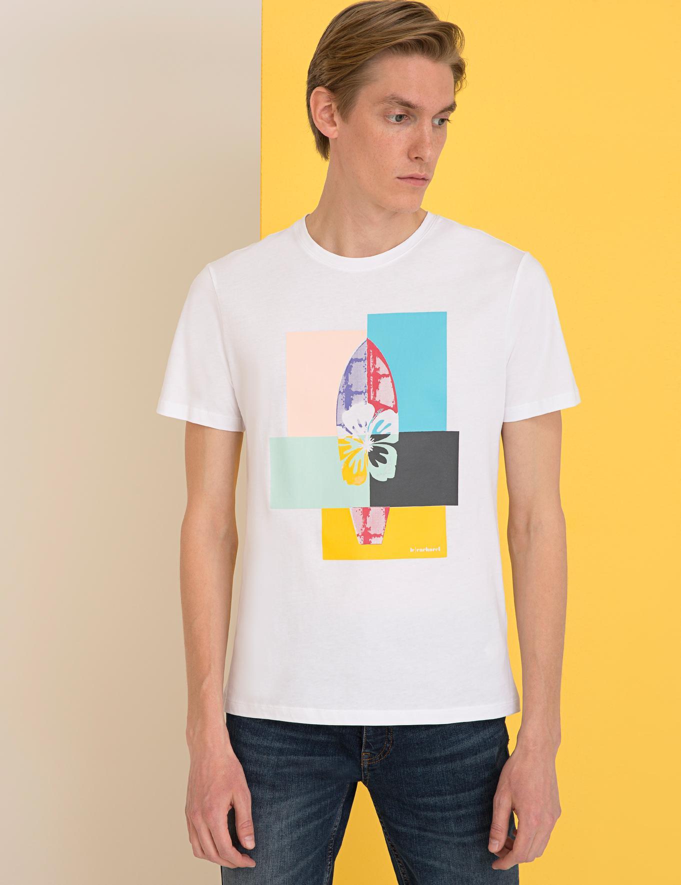 Bisiklet Yaka T-Shirt - 50234618015
