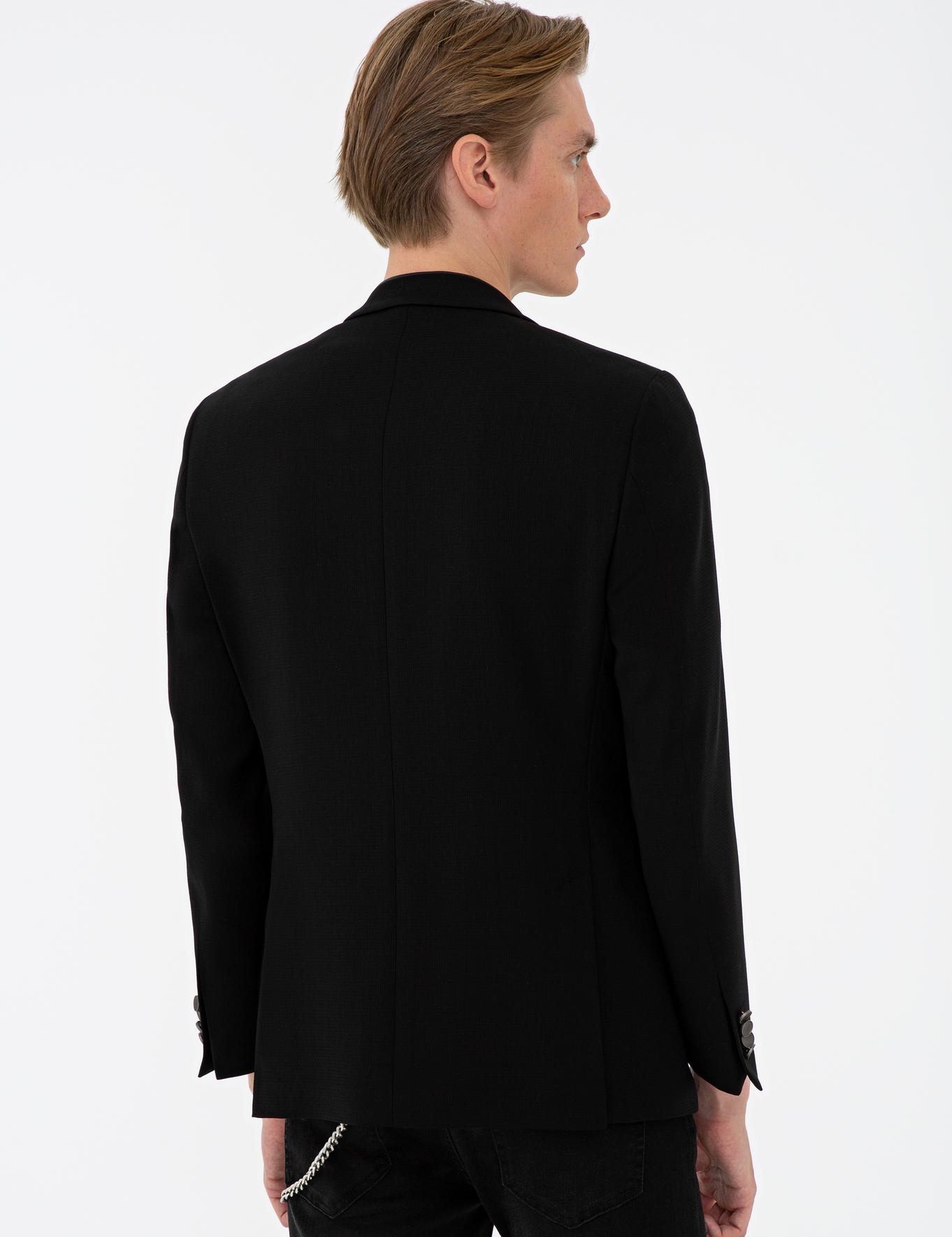 Siyah Ex. Slim Fit Ceket - 50234625017