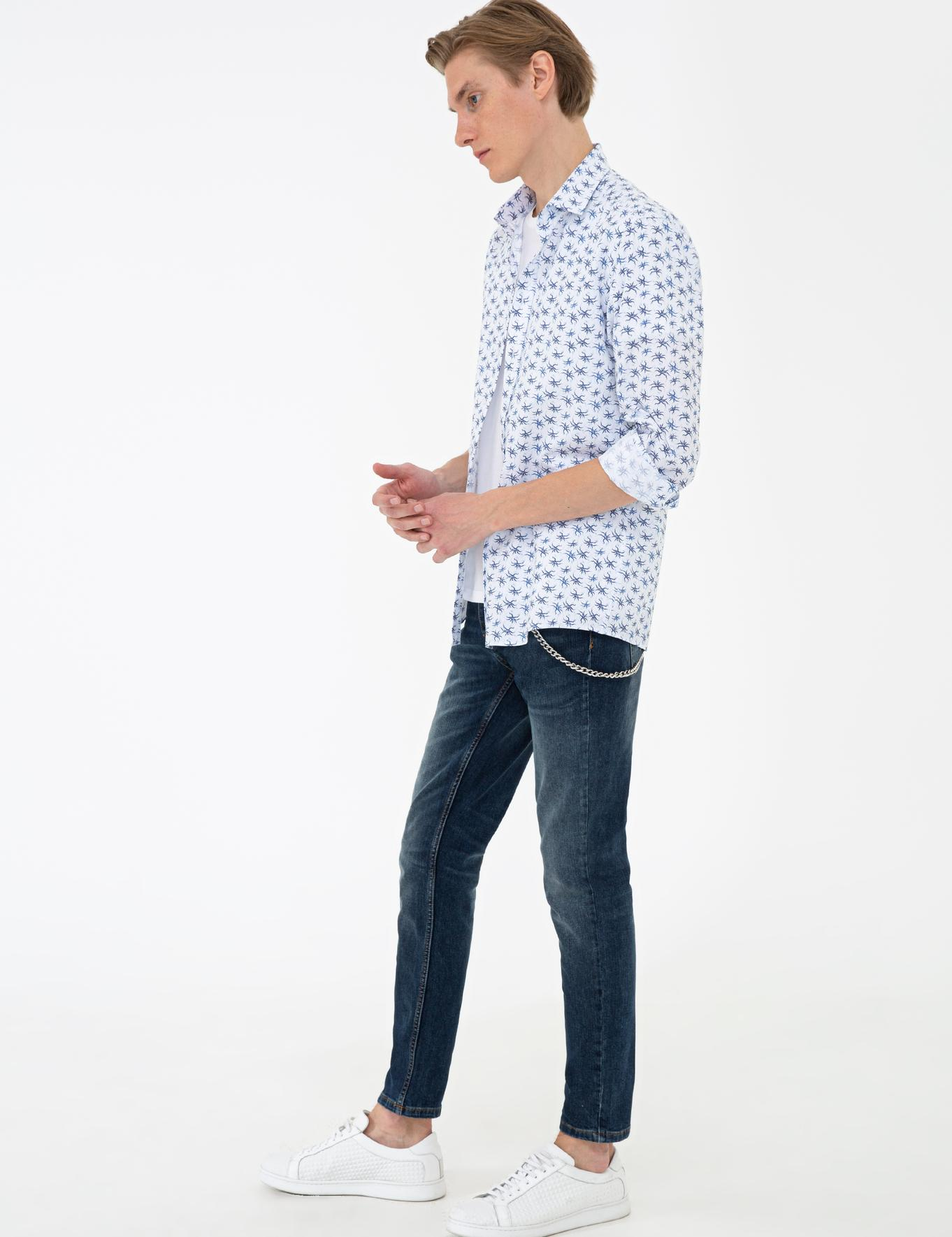 Lacivert Slim Fit Gömlek - 50233196026