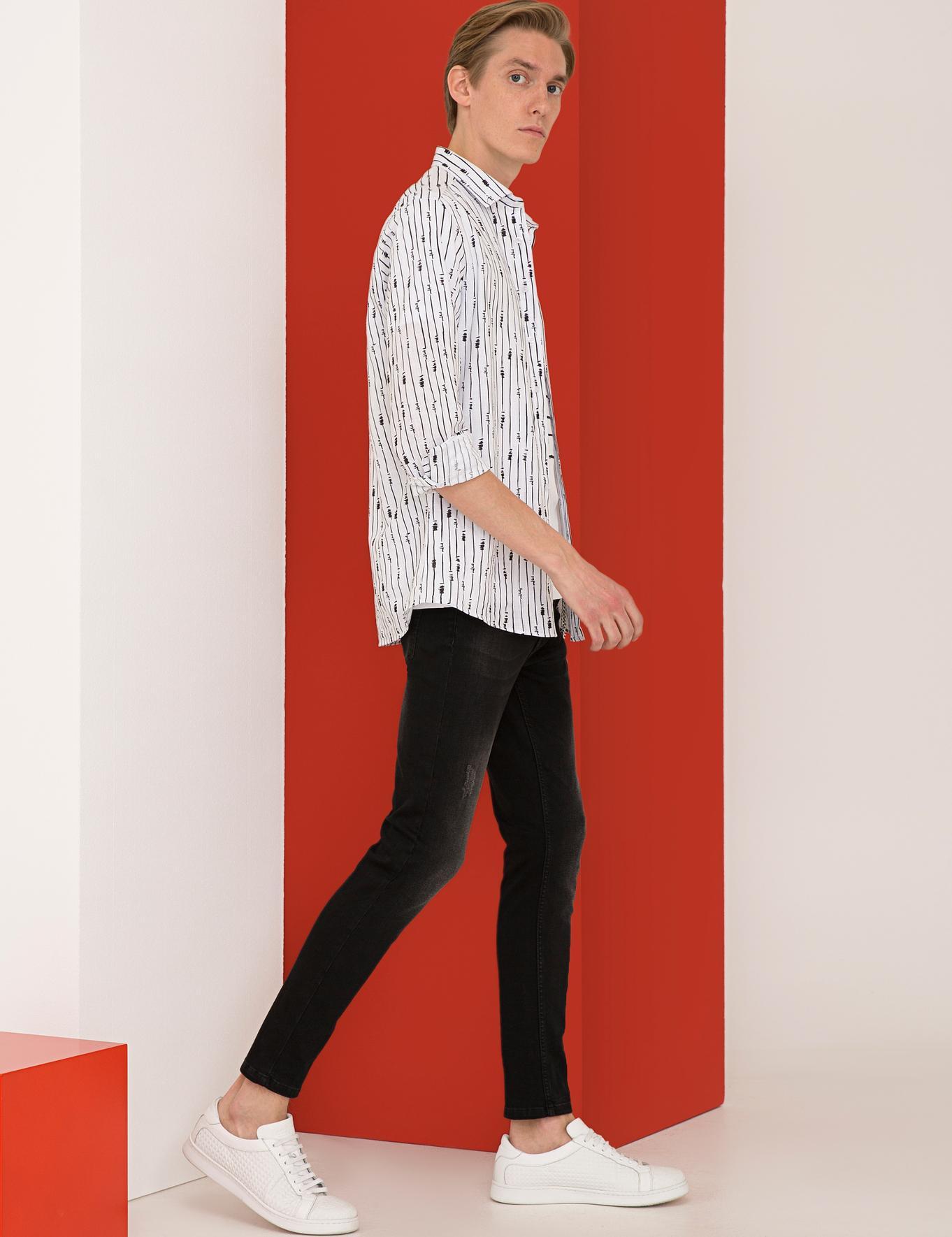 Siyah Slim Fit Gömlek - 50233003022
