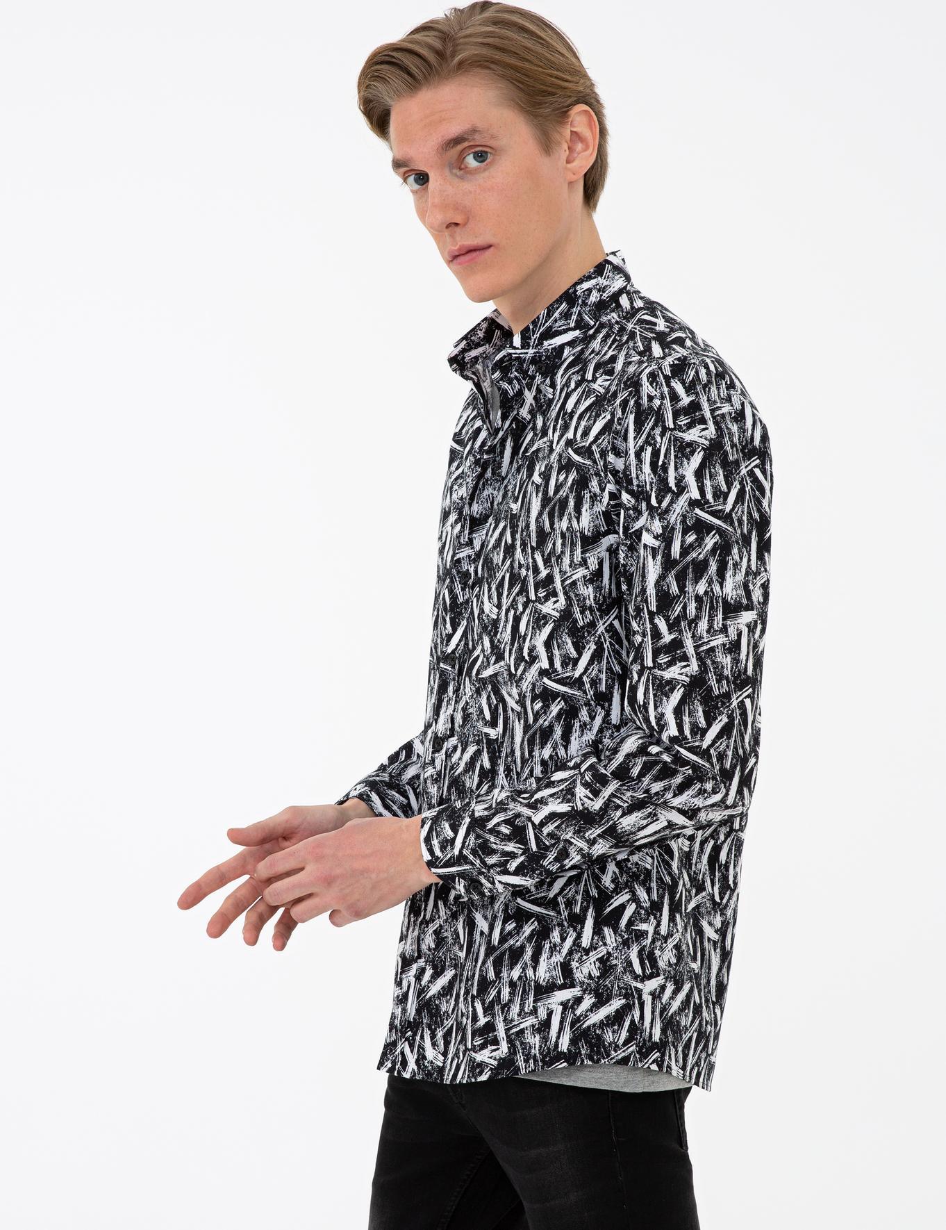 Siyah Slim Fit Gömlek - 50233197007