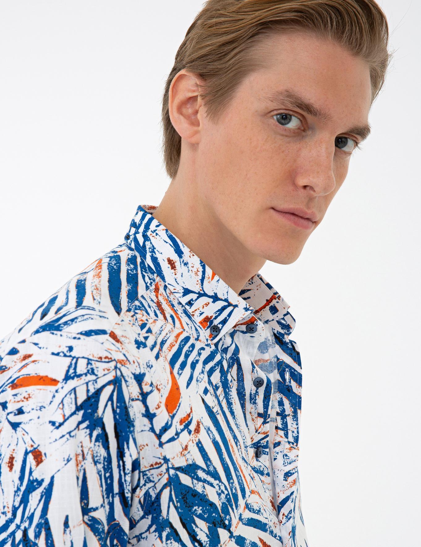 Koyu Mavi Slim Fit Gömlek - 50233379025