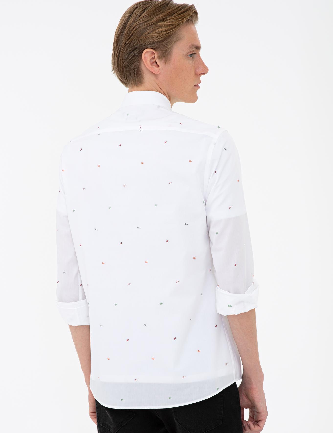 Beyaz Slim Fit Gömlek - 50233199025