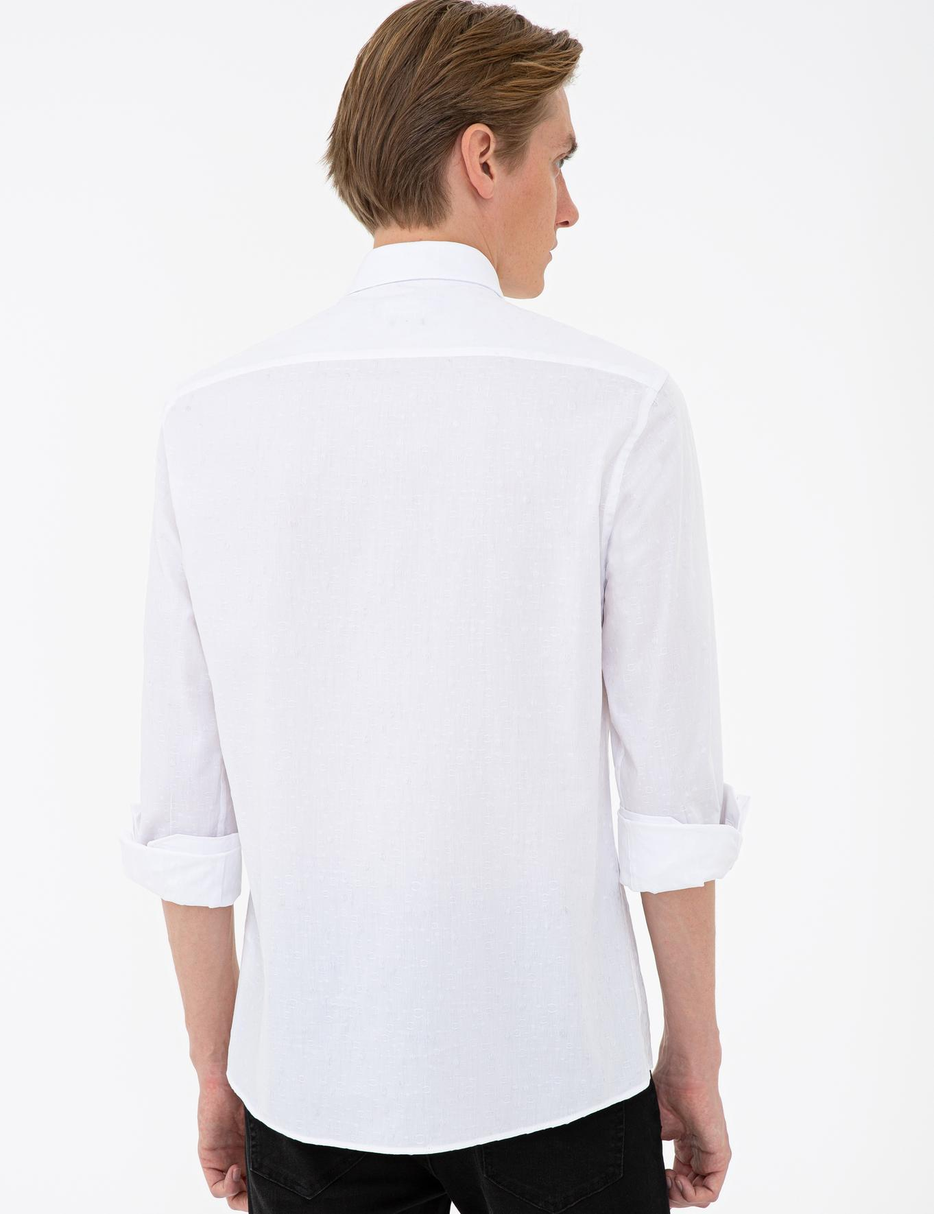 Beyaz Slim Fit Gömlek - 50233011026