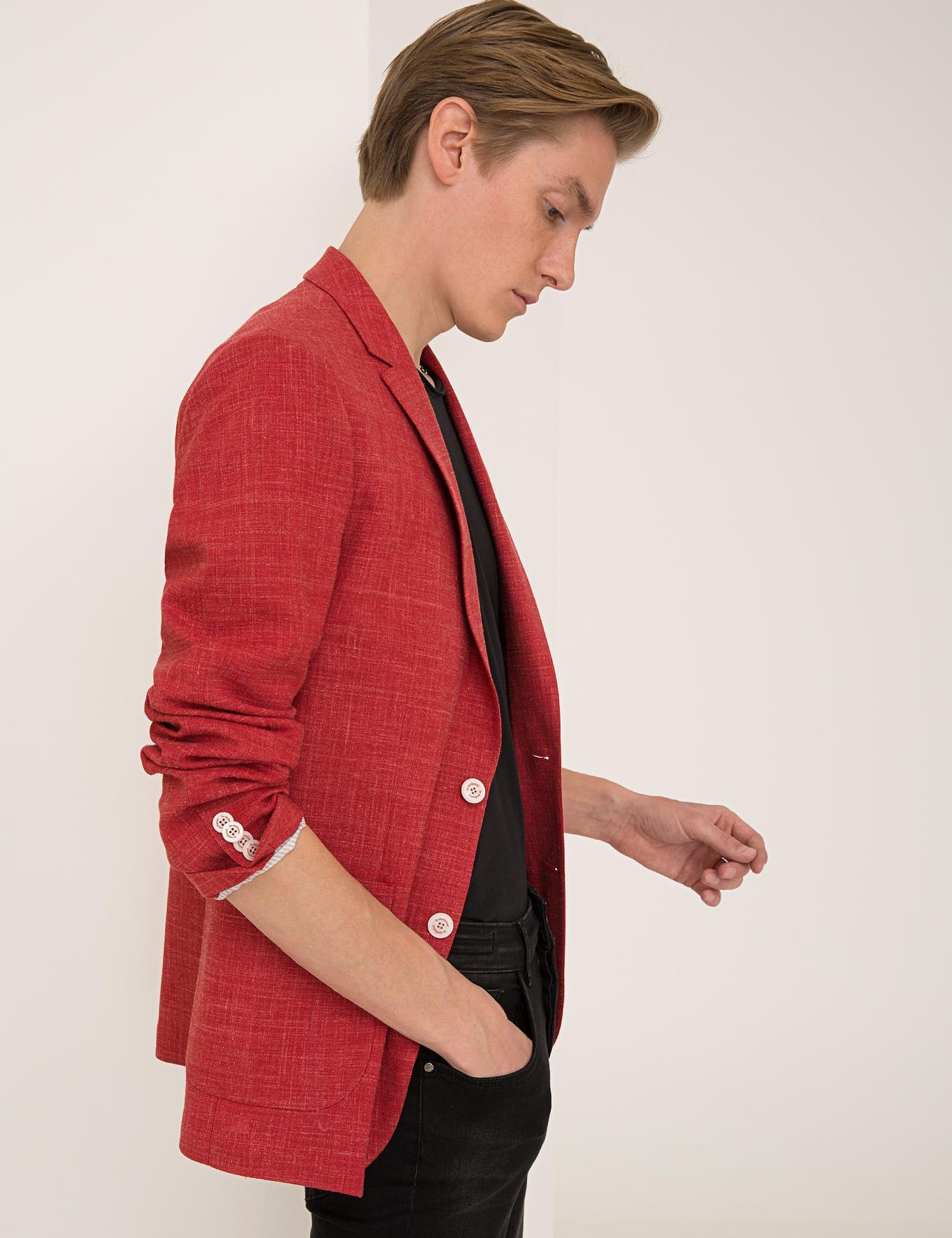 Kırmızı Ex. Slim Fit Ceket - 50234883041