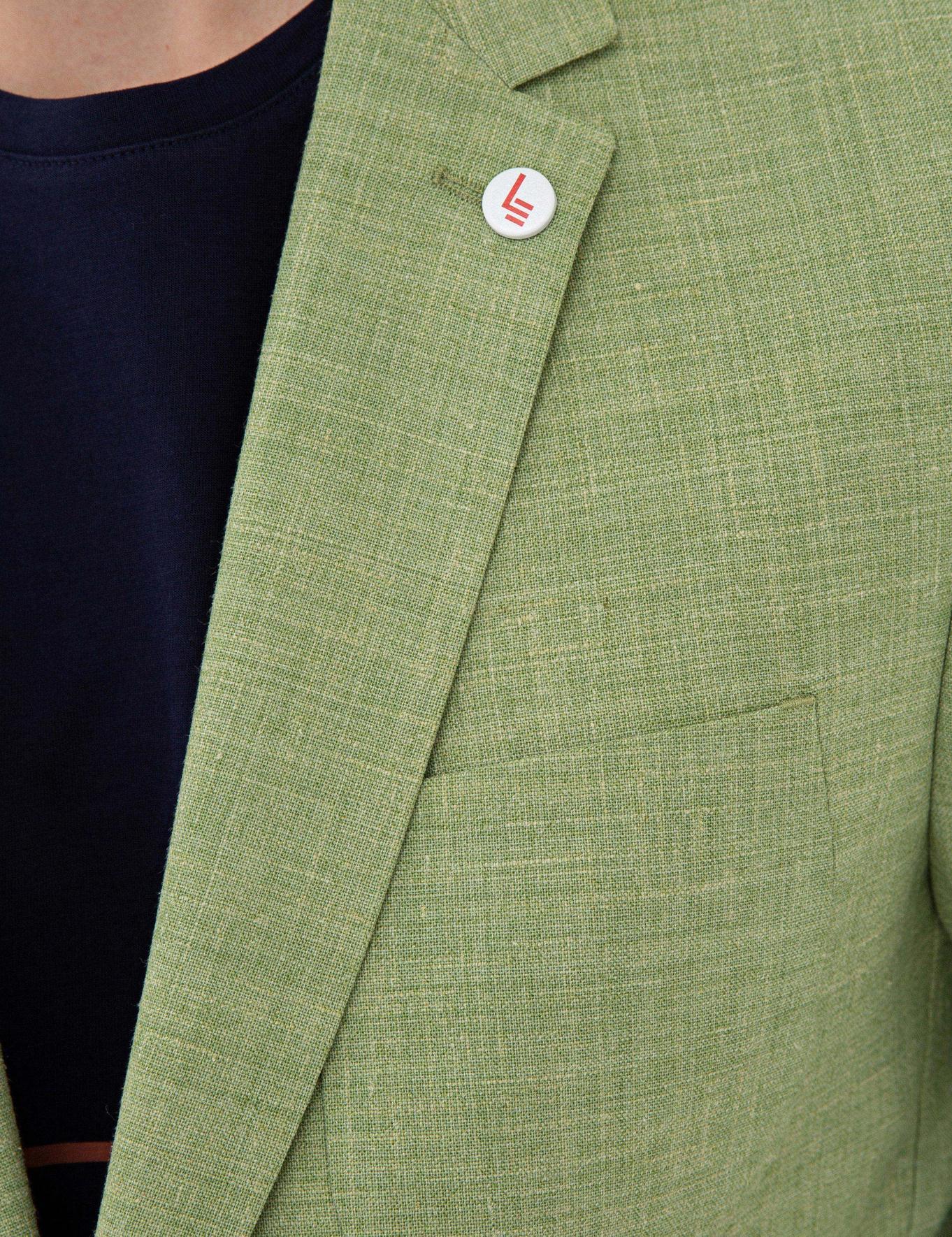 Yeşil Ex. Slim Fit Ceket - 50234883116