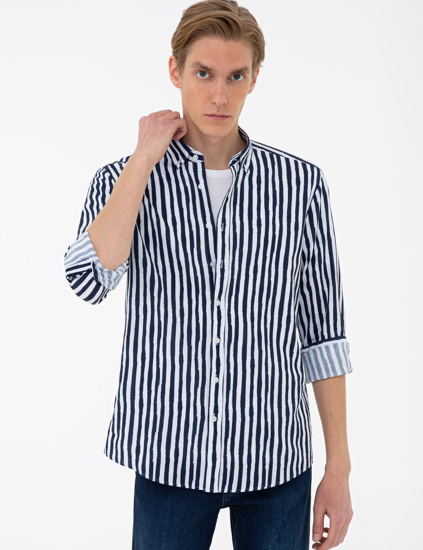 Lacivert Slim Fit Gömlek - 50233012023