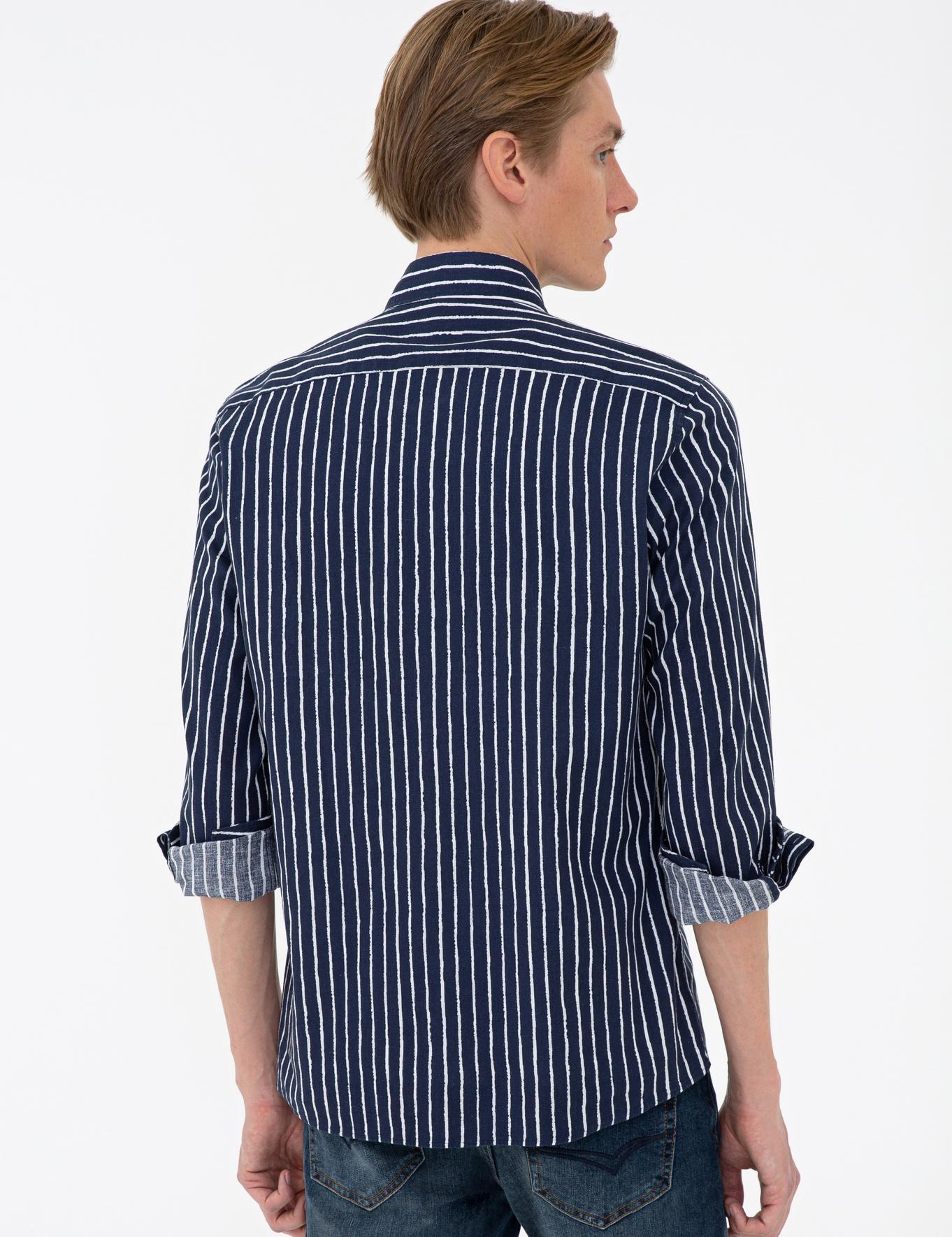 Lacivert Slim Fit Gömlek - 50233193005