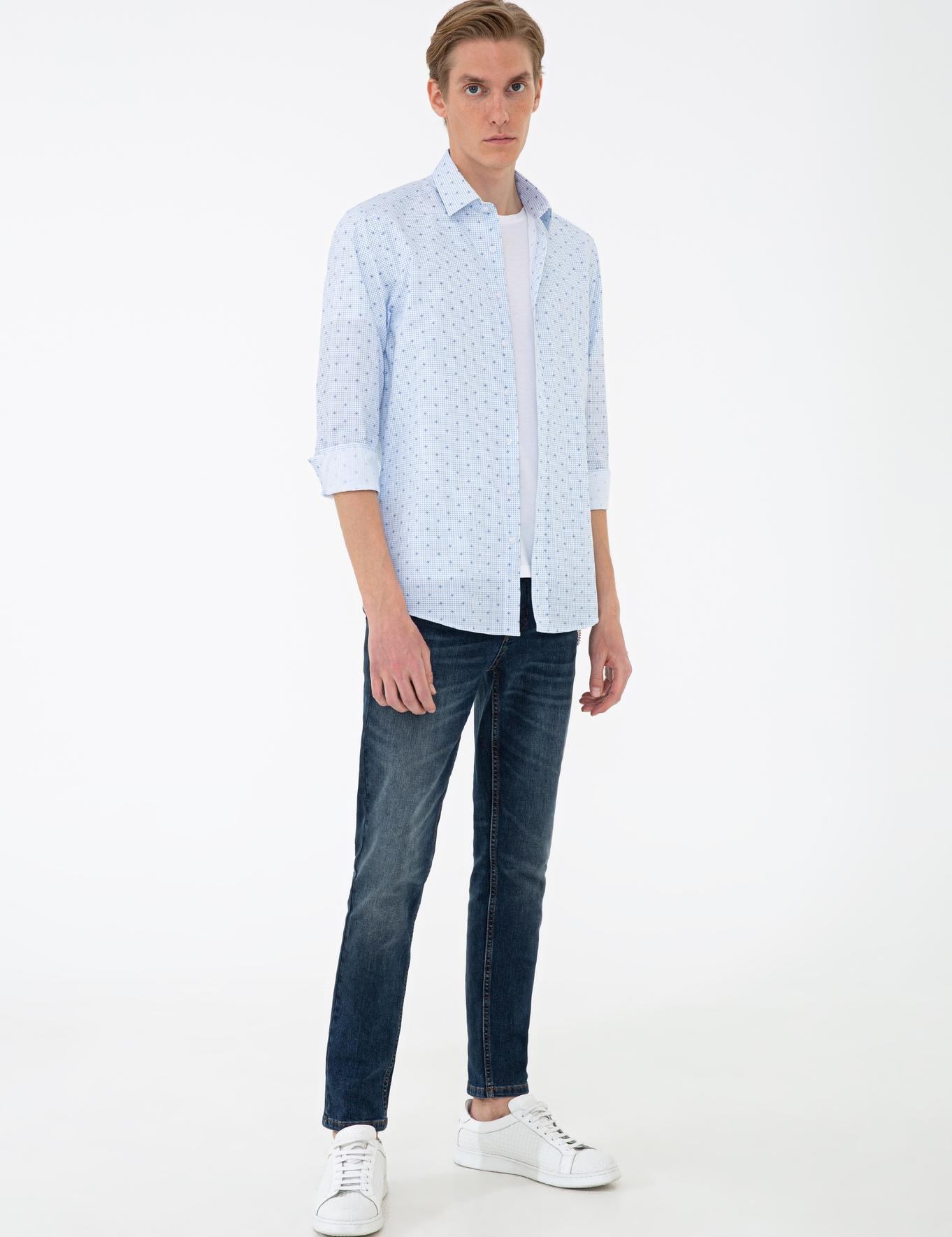Lacivert Slim Fit Gömlek - 50235103006