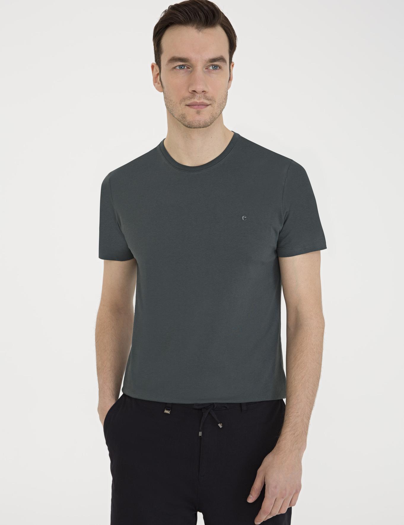 Bisiklet Yaka T-Shirt - 50239168025