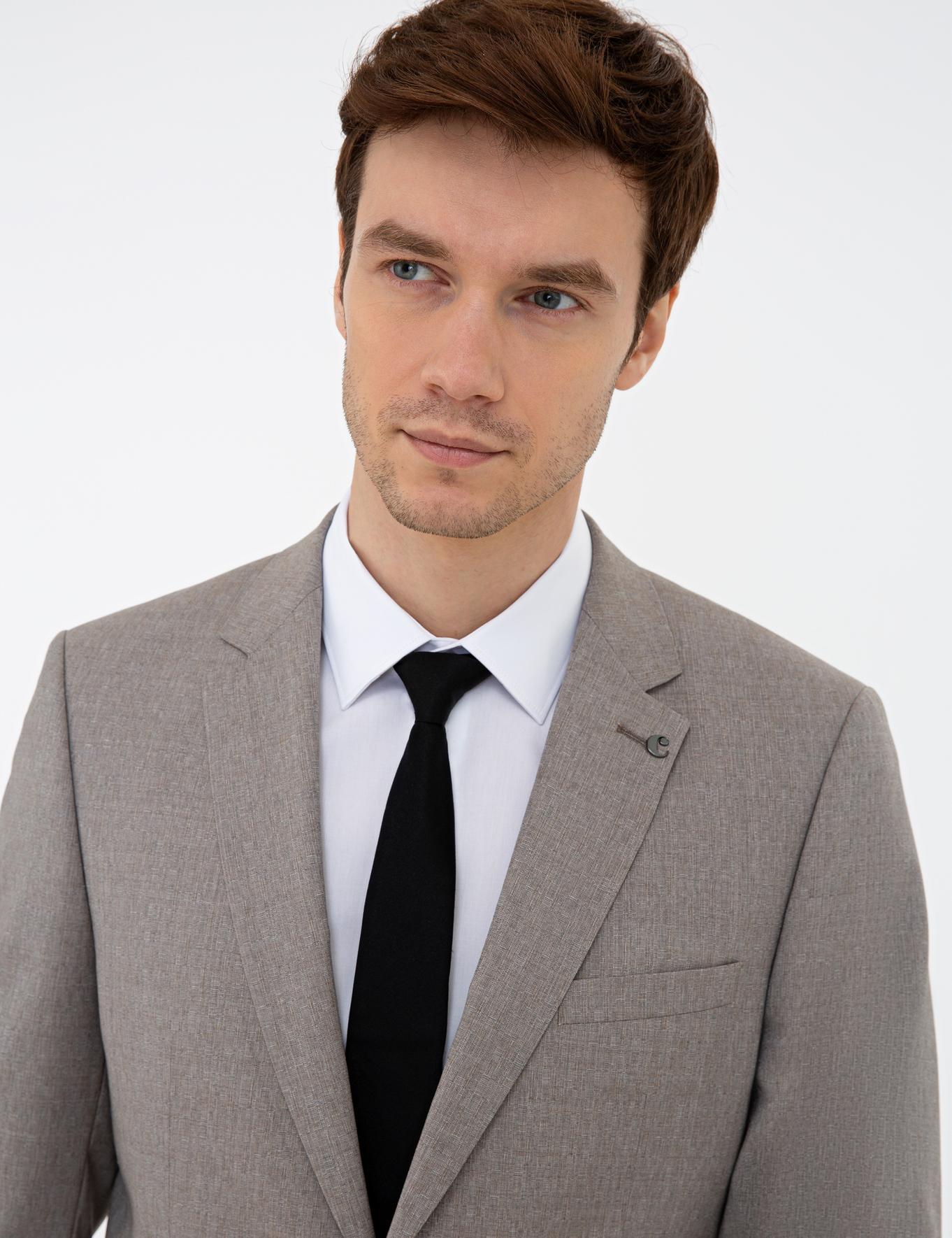 Bej Slim Fit Takım Elbise - 50233434086